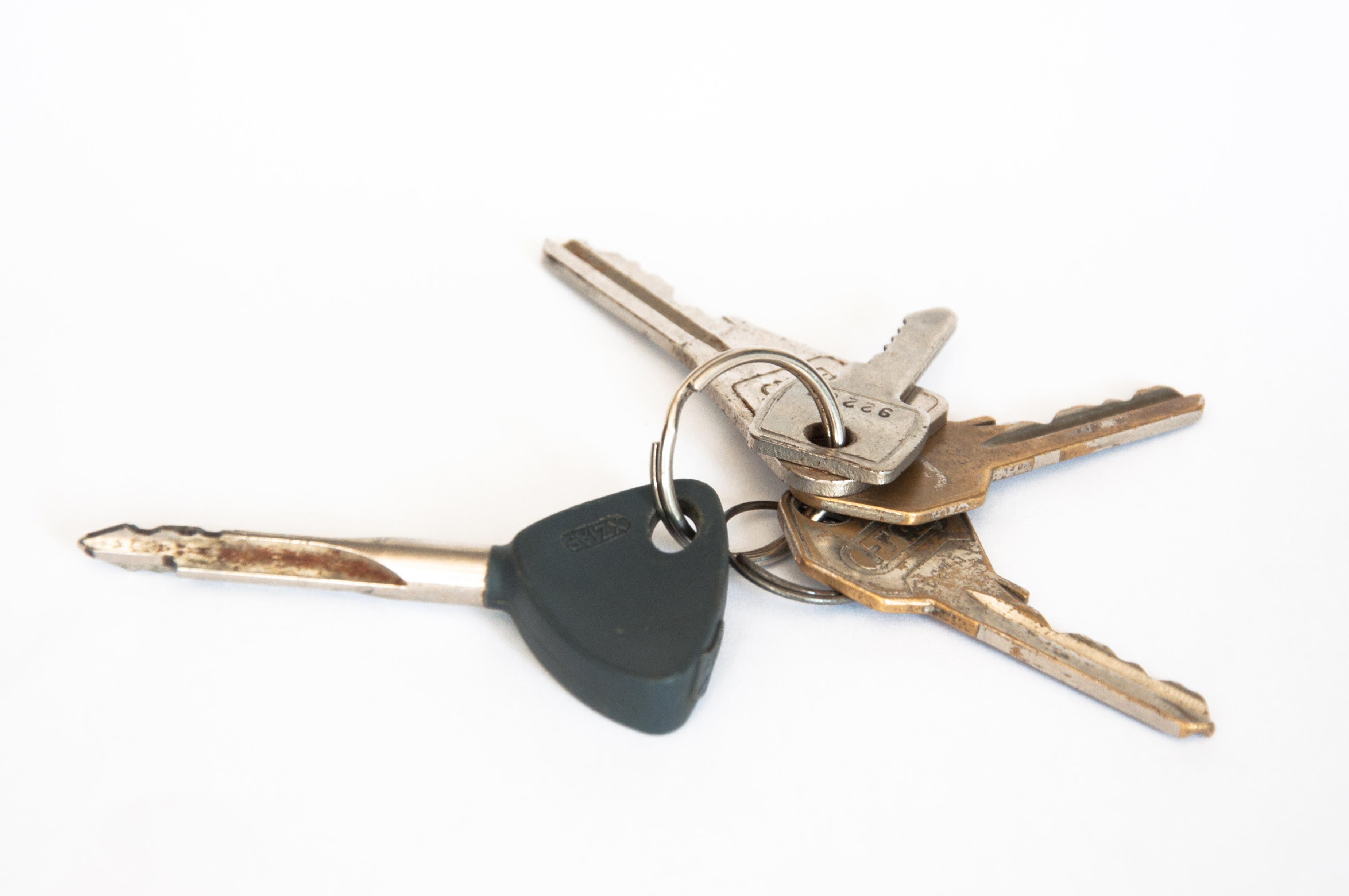 Keys, Bundle, Car, Door, Isolated, HQ Photo