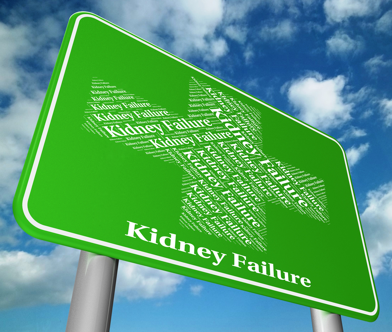 Kidney failure indicates lack of success and advertisement photo