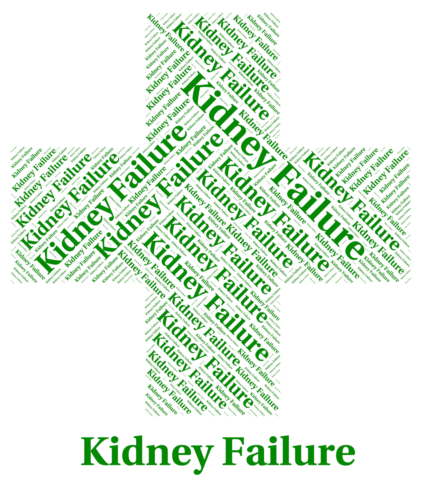 Kidney failure shows lack of success and affliction photo