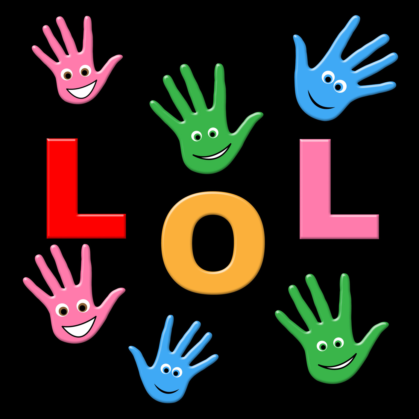 Kids lol indicates laugh out loud and haha photo
