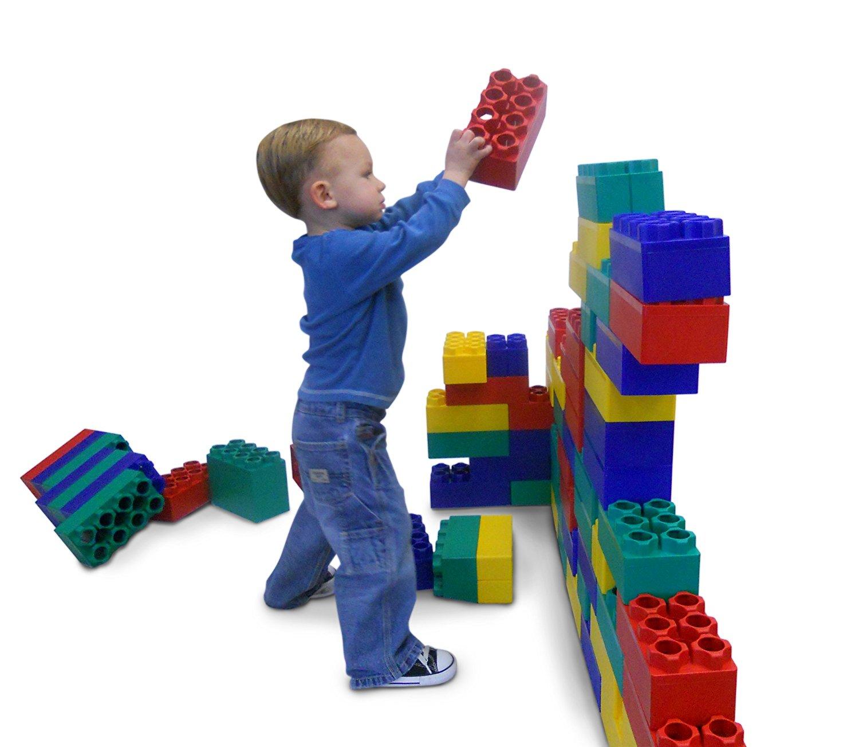 Amazon.com: 96pc Jumbo Blocks - Standard Set (Made in the USA): Toys ...