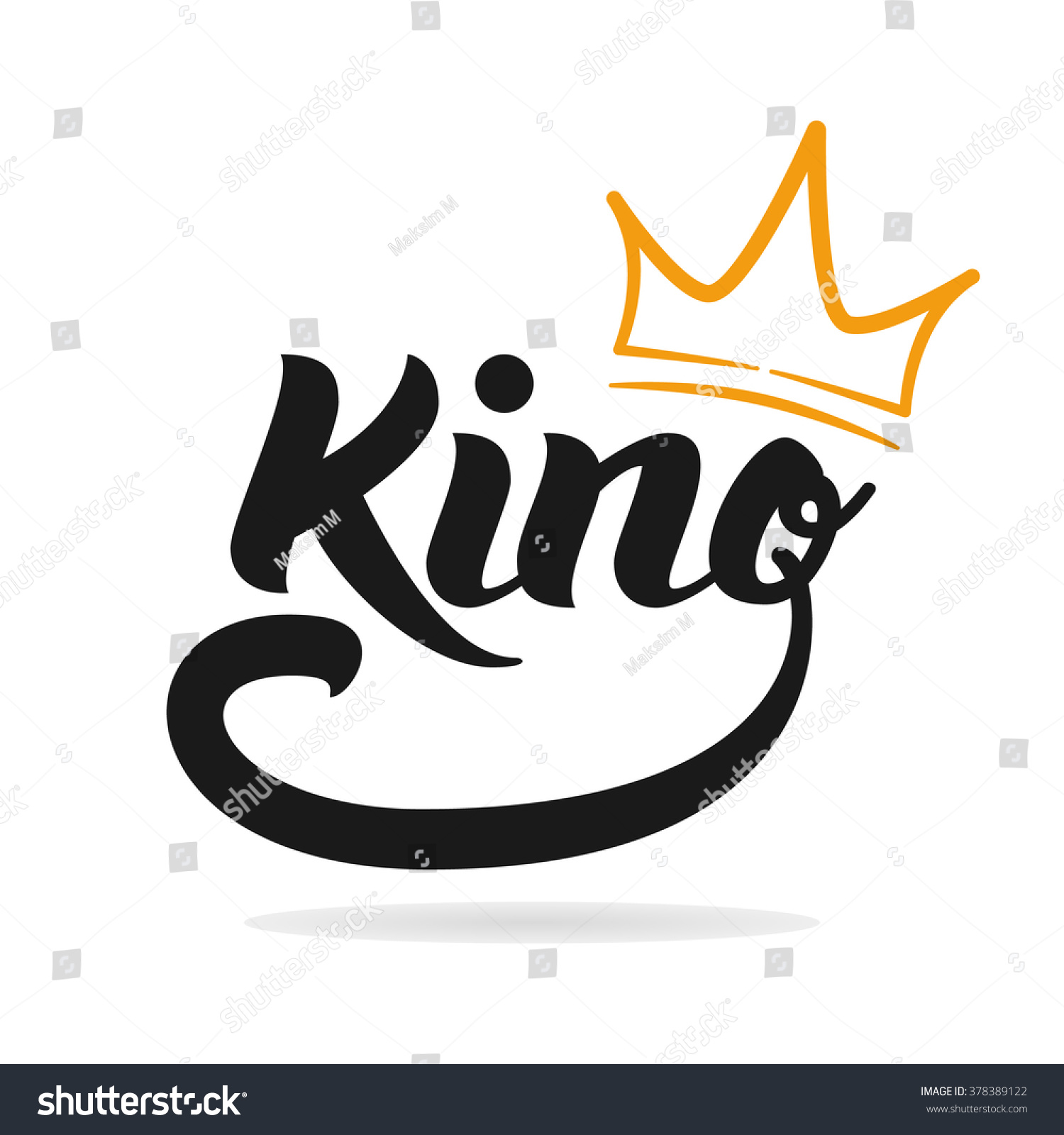 Royalty-free King logo template. King icon. Word of… #378389122 ...