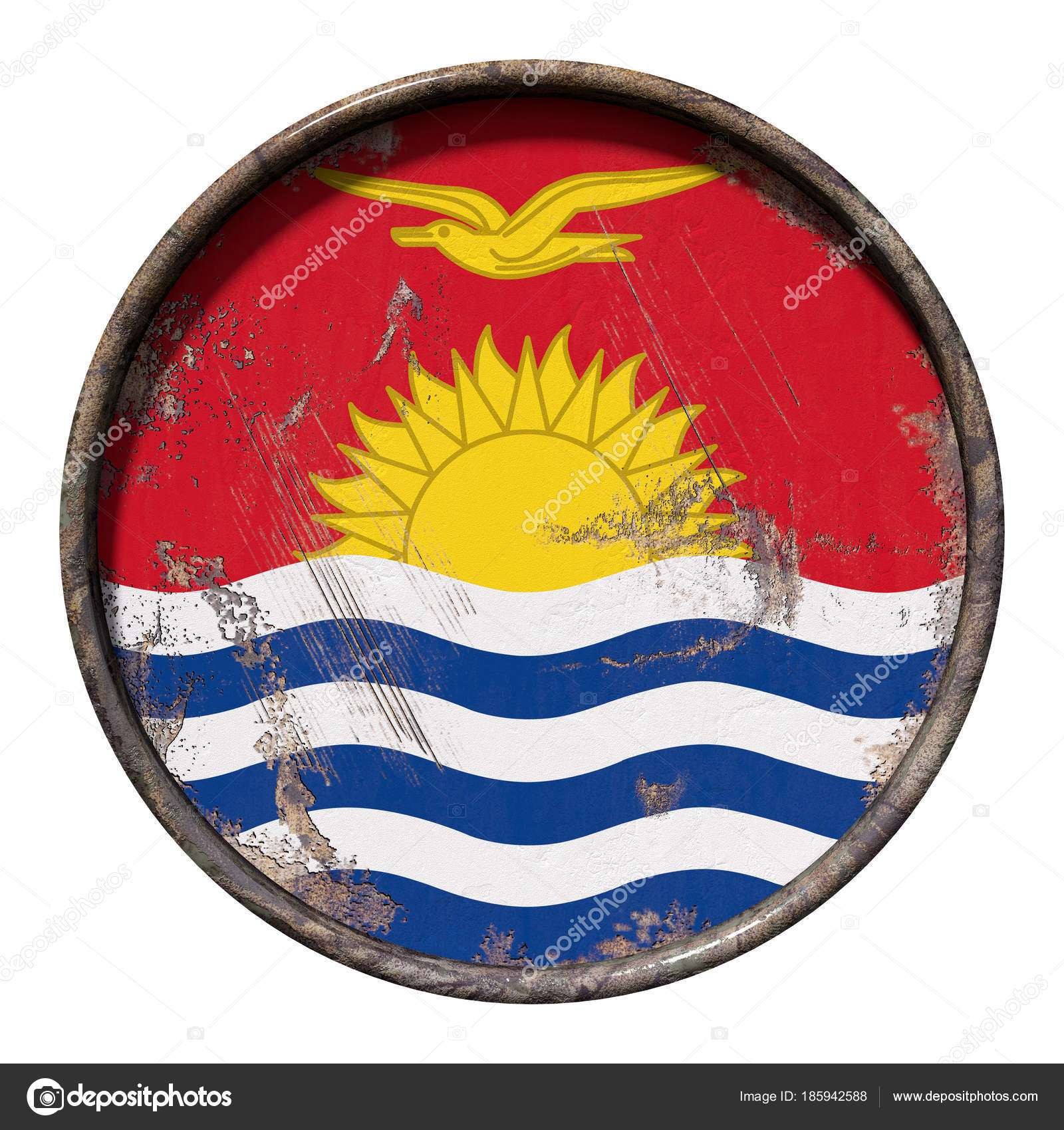 Kiribati grunge flag photo