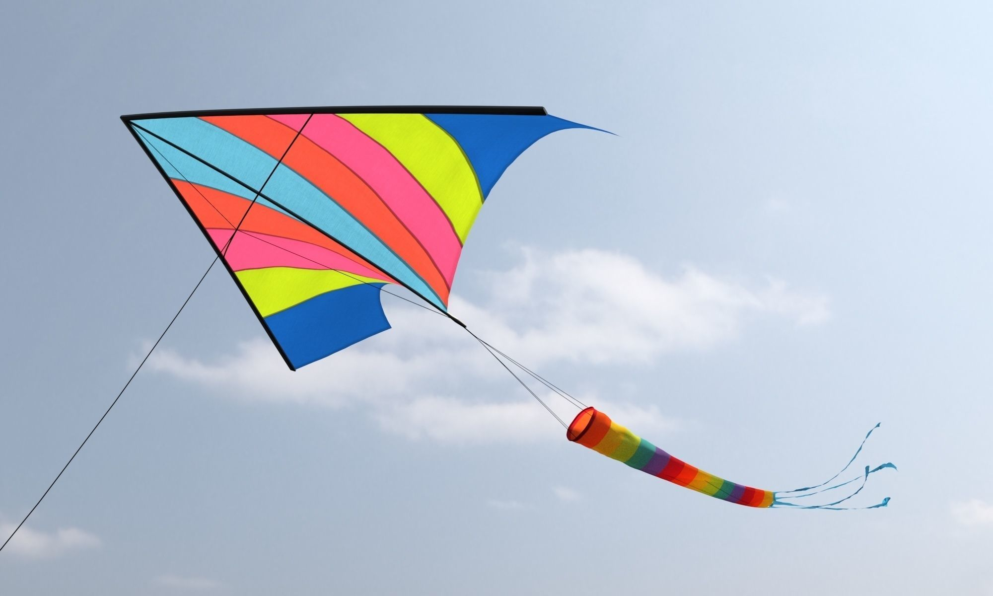 classic wind kite model | CGTrader
