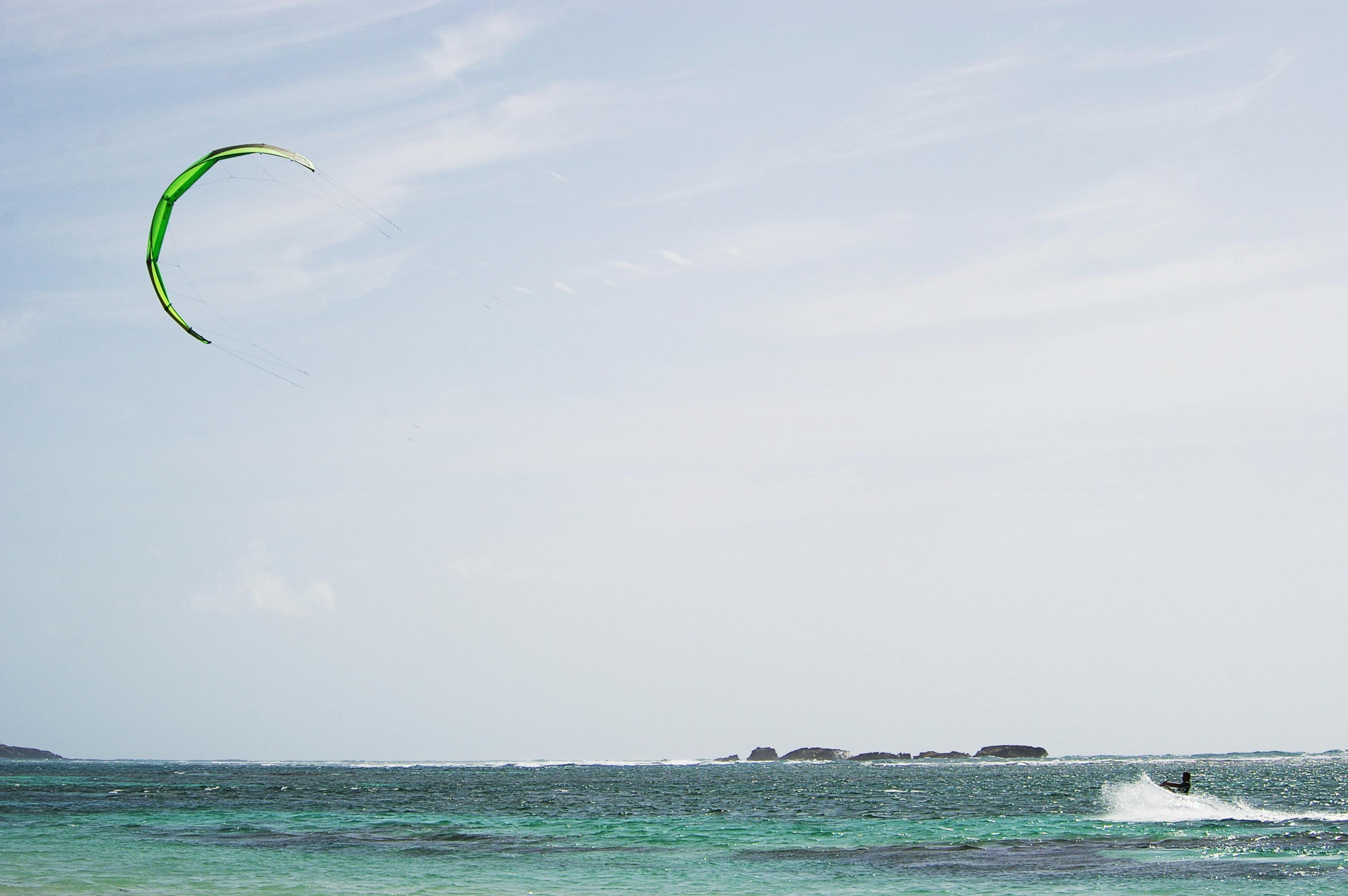 Kite surf, Aqua, Attraction, Extreme, Fast, HQ Photo