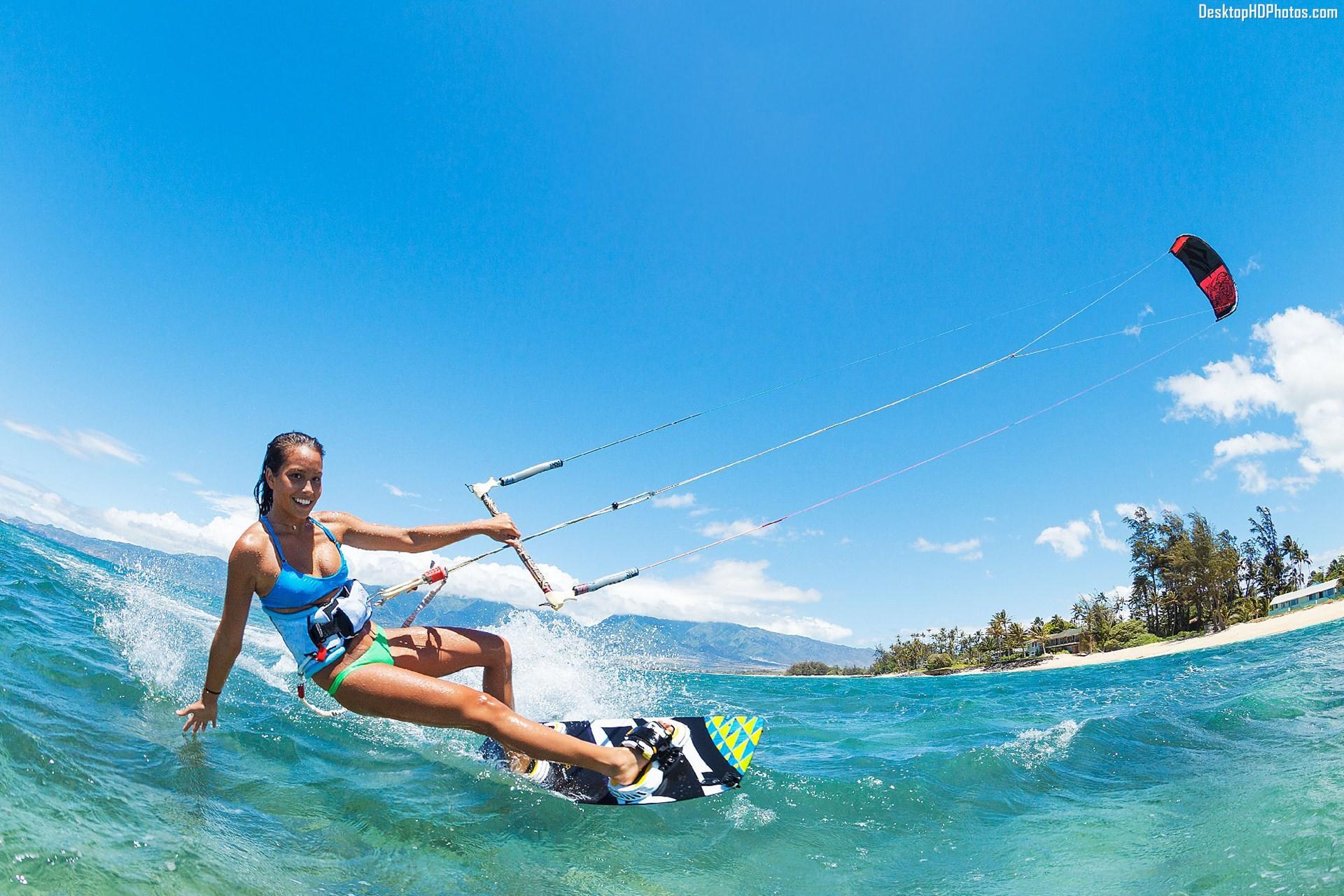 Kite surfing photo