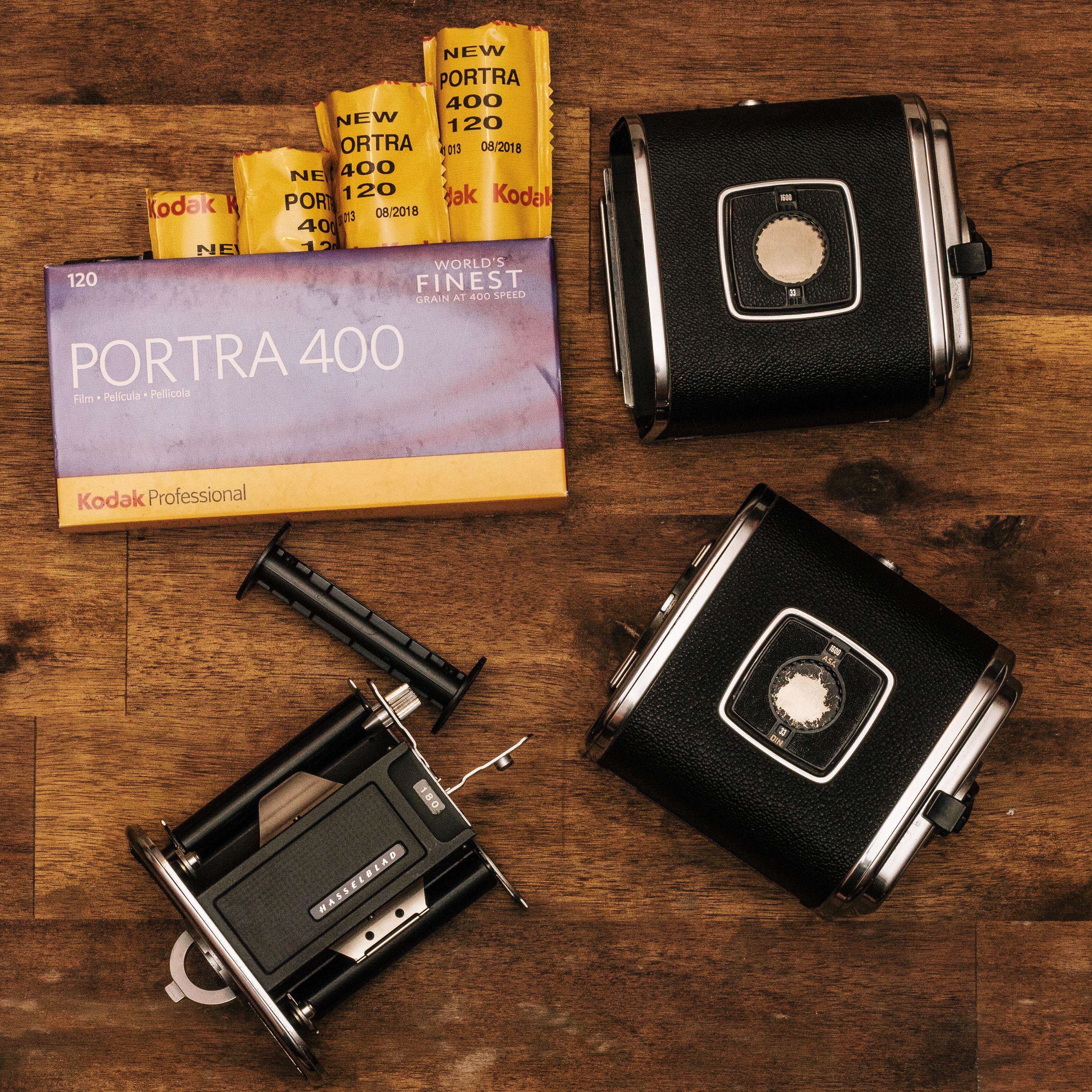 Kodak porta 400 with black cases photo