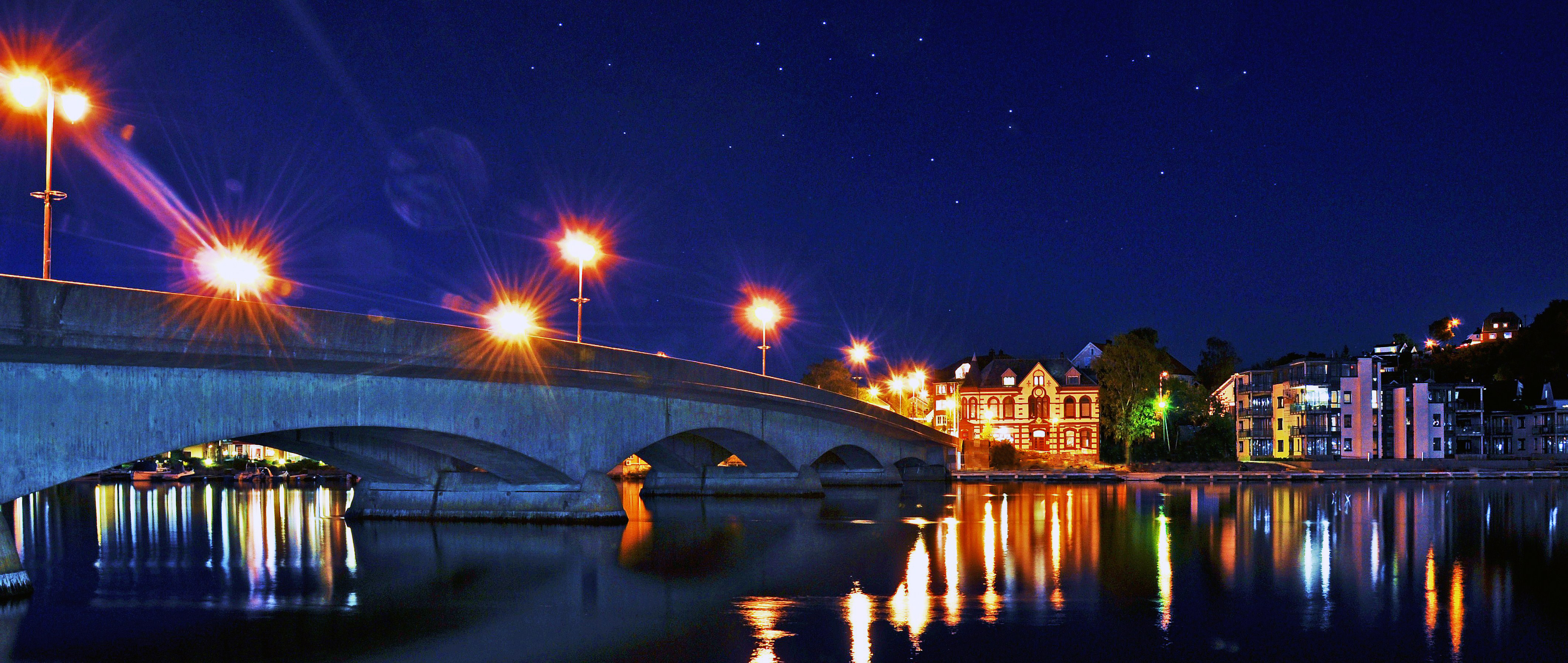 Kristiansand by night photo