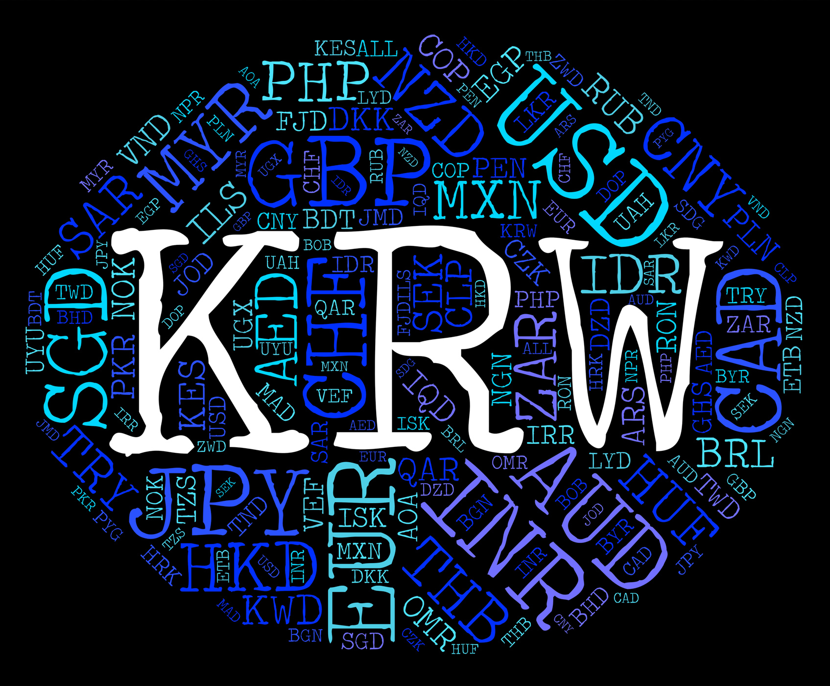 Krw Currency Represents South Korea Won And Exchange, Southkorea, Southkorean, Market, Krw, HQ Photo