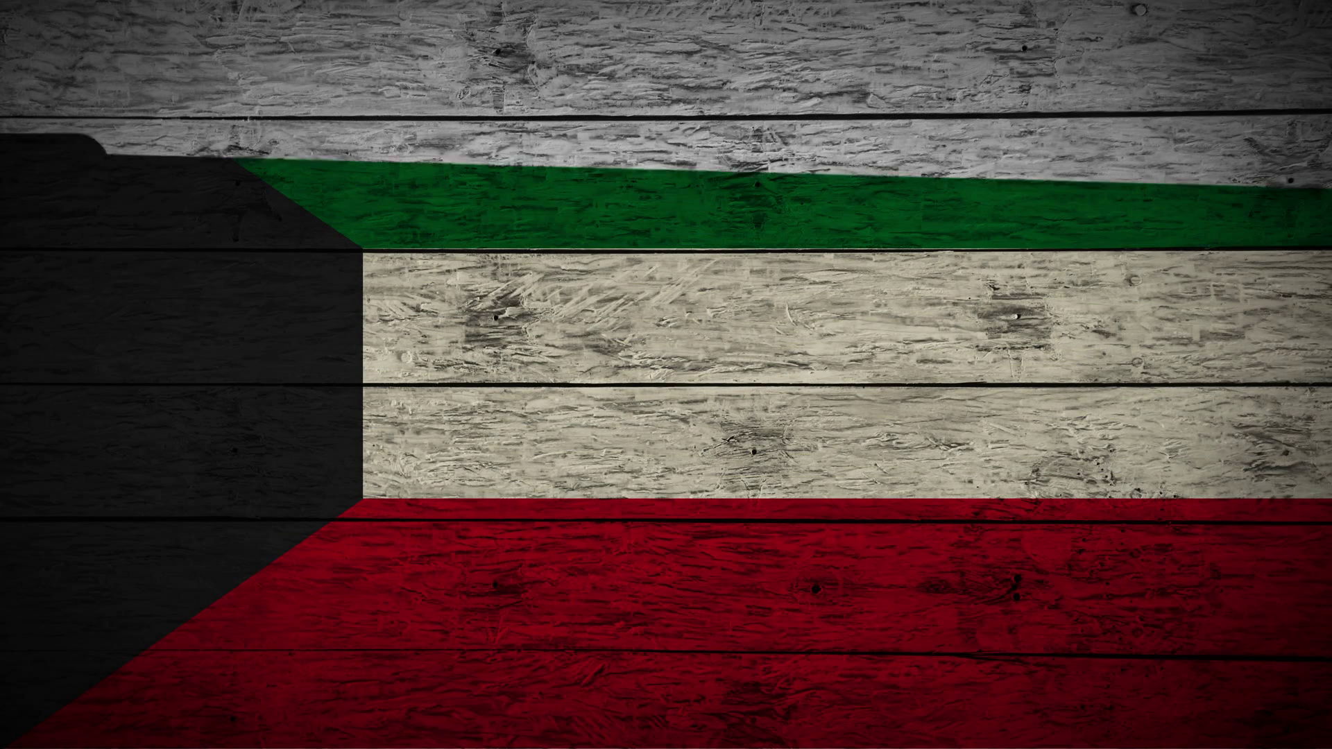 Painting Flag of Kuwait on old wood boards With four different ways ...