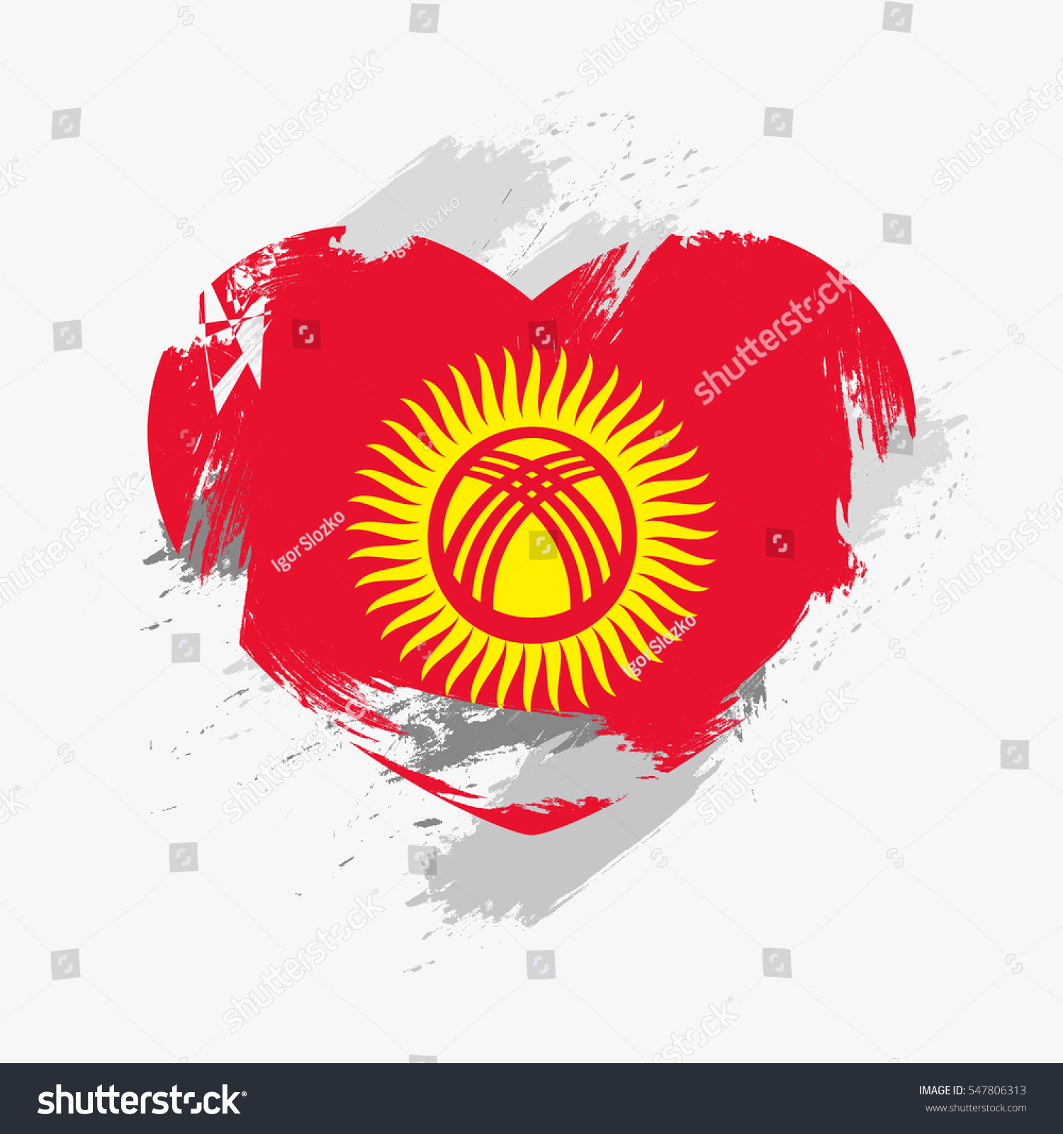 Kyrgyzstan grunge flag photo
