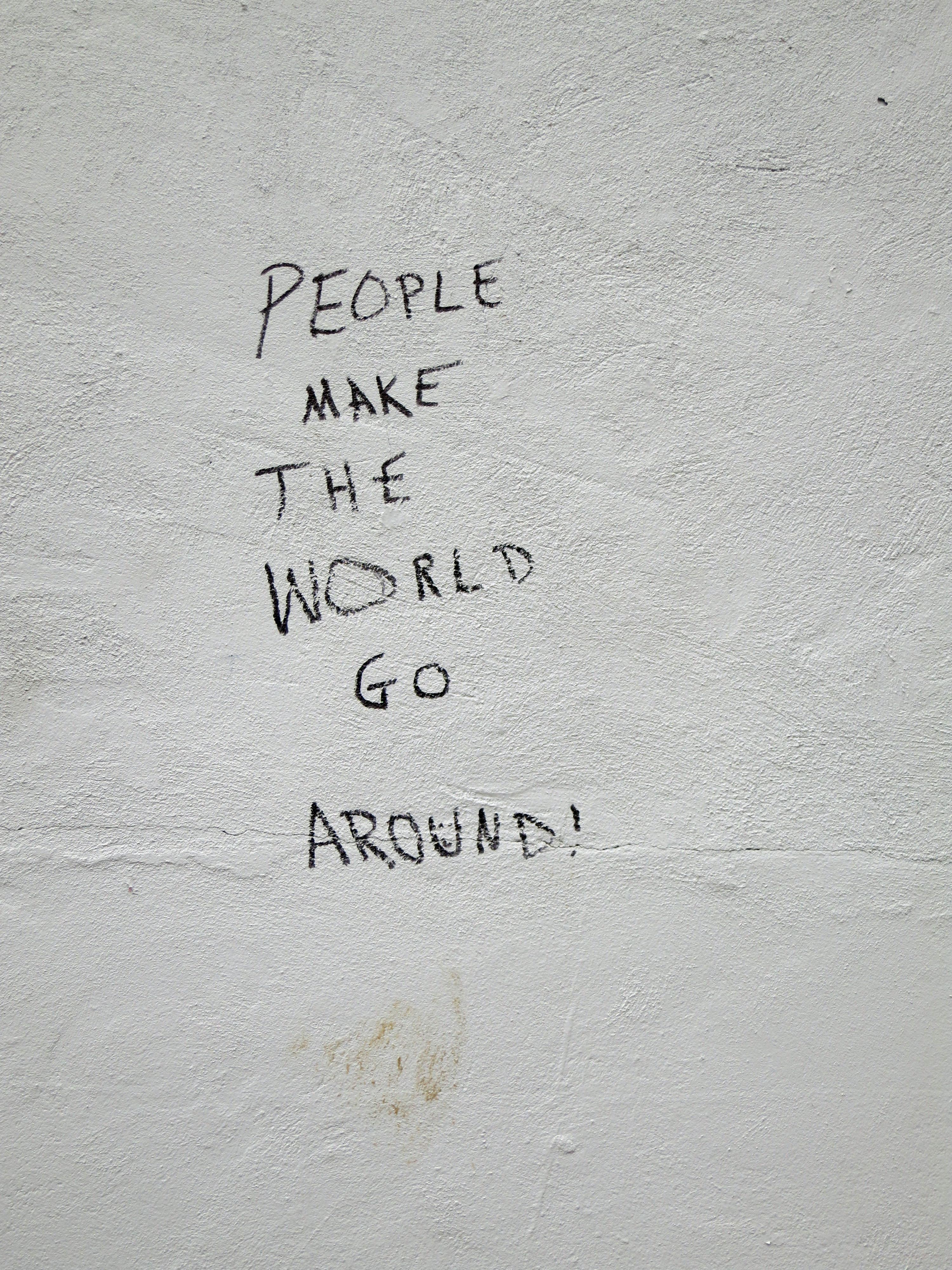 La gente hace que el mundo gire, Around, Dc, Graffiti, People, HQ Photo