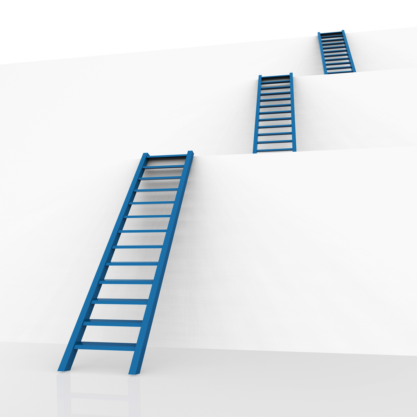 Ladders Vision Represents Conquering Adversity And Aspire, Aspirations, Obstacle, Upward, Step, HQ Photo