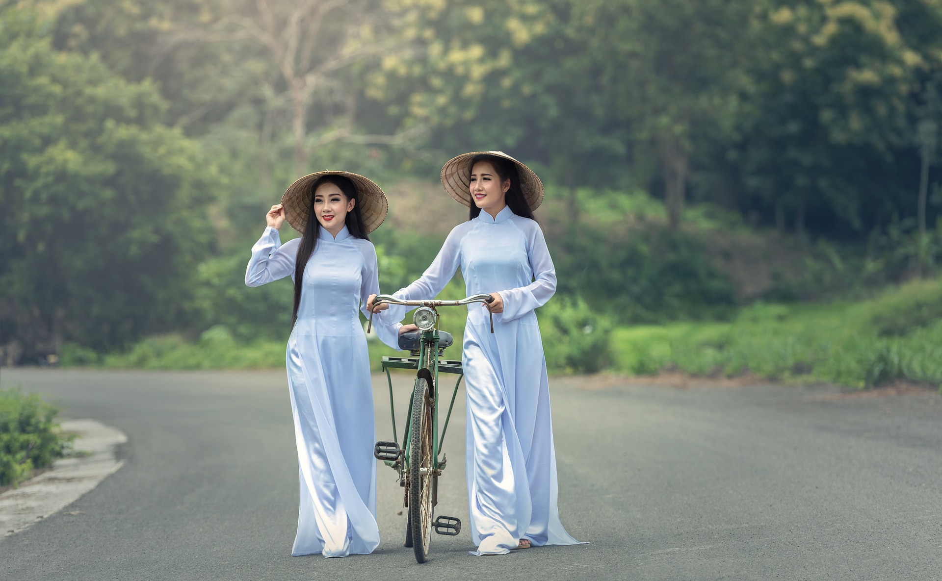Ladies with the cycle photo