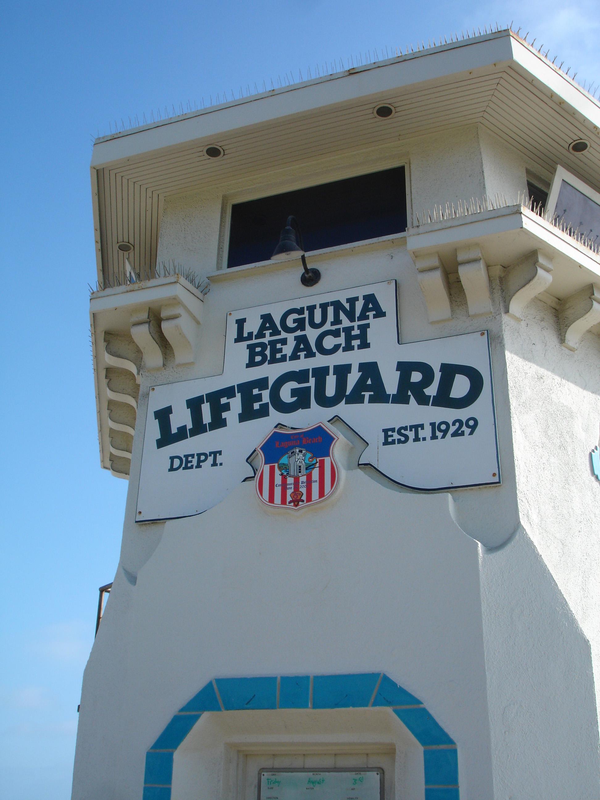 Laguna Beach Lifeguard, Beach, California, Guard, Lifeguard, HQ Photo