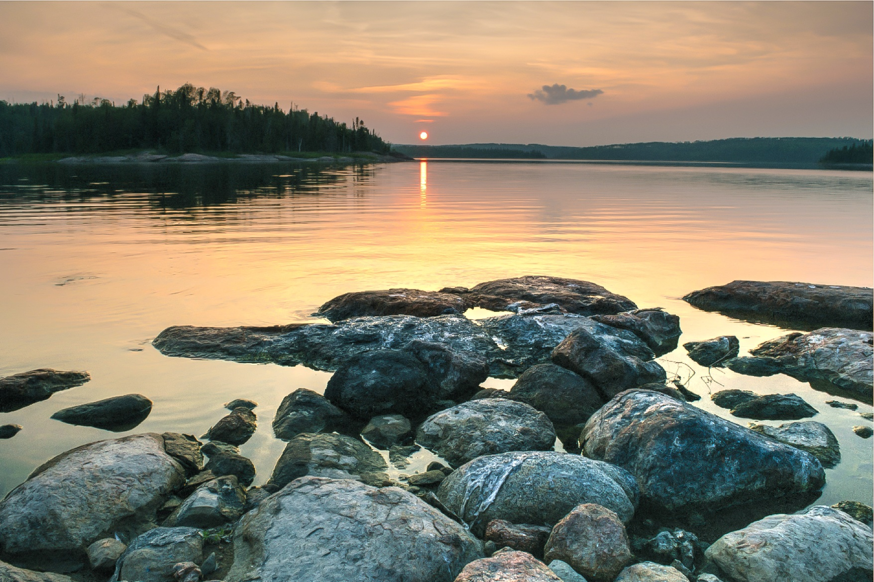 Lake, Rocky, Sea, Water, Rock, HQ Photo