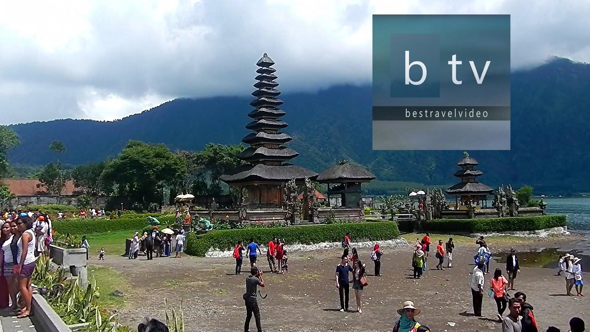 Bali: Ulun Danu Beratan Hindu Temple on Lake Bratan Bedugul - YouTube