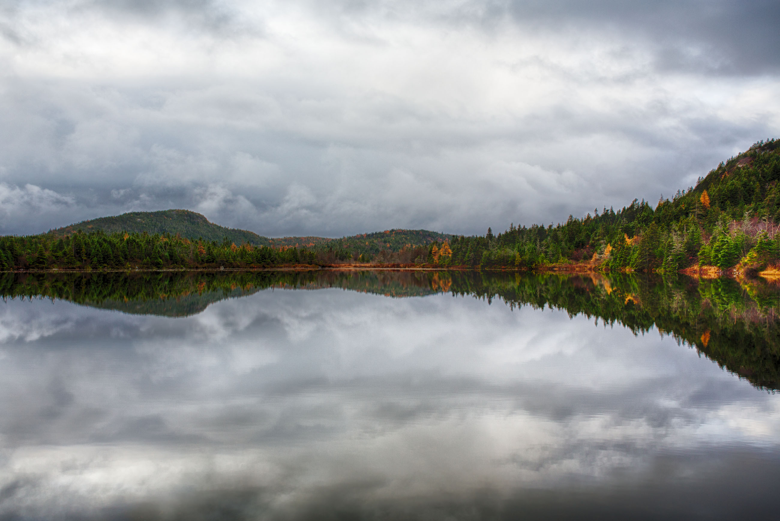 Lake in autumn photo