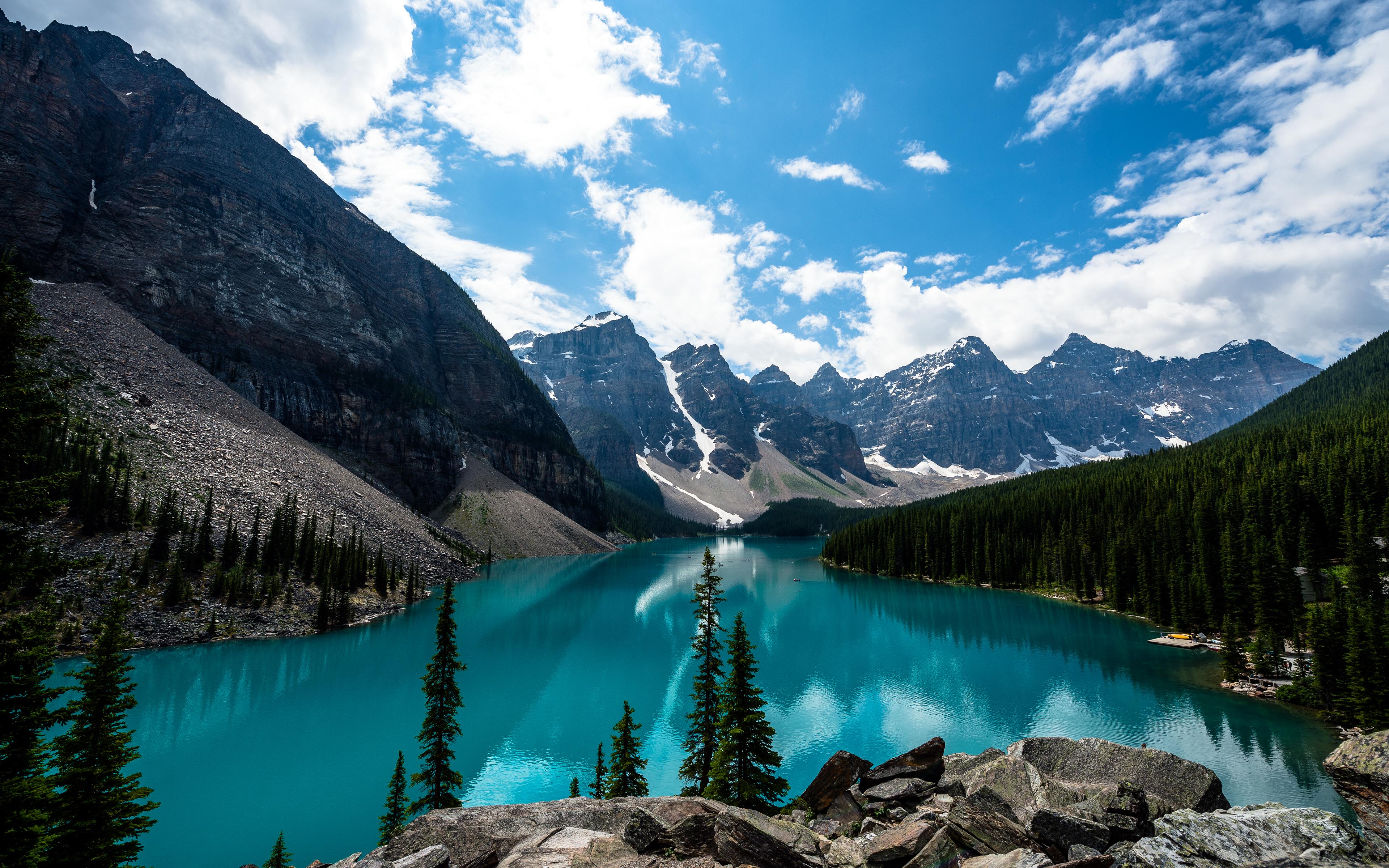 Wallpaper Moraine Lake, Lake Louise, Banff National Park, Canada ...
