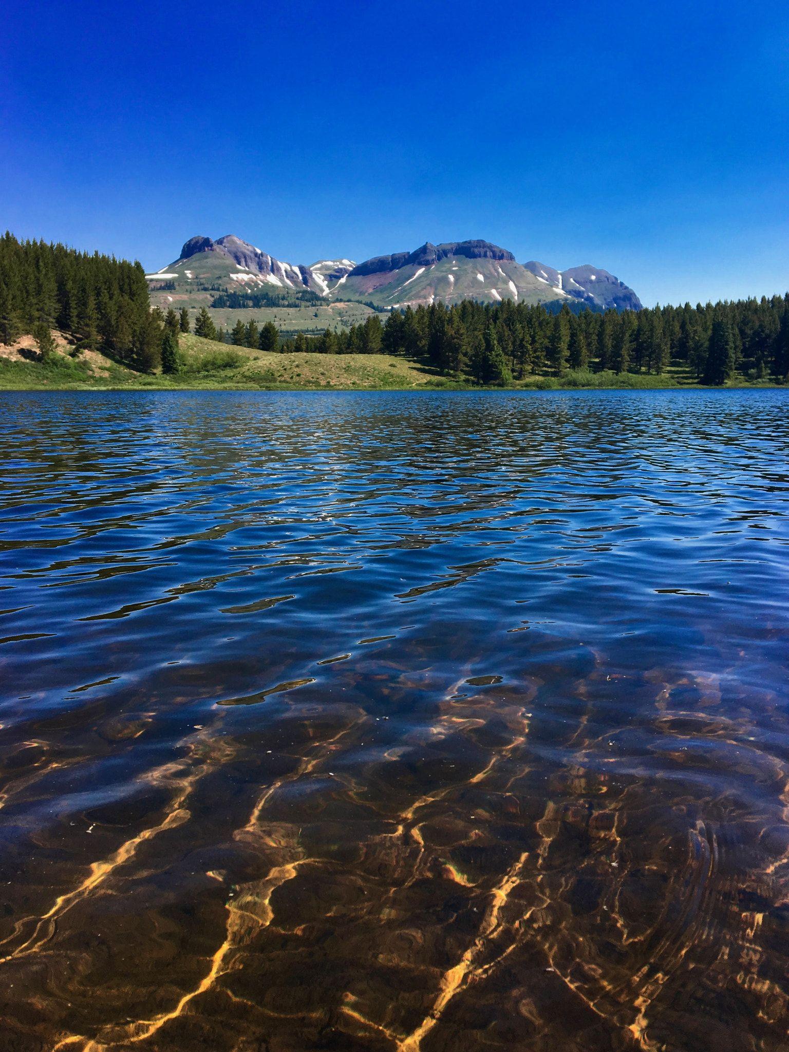 Lake of Gold - Andrews Lake near Molas Pass in the San Juan National ...