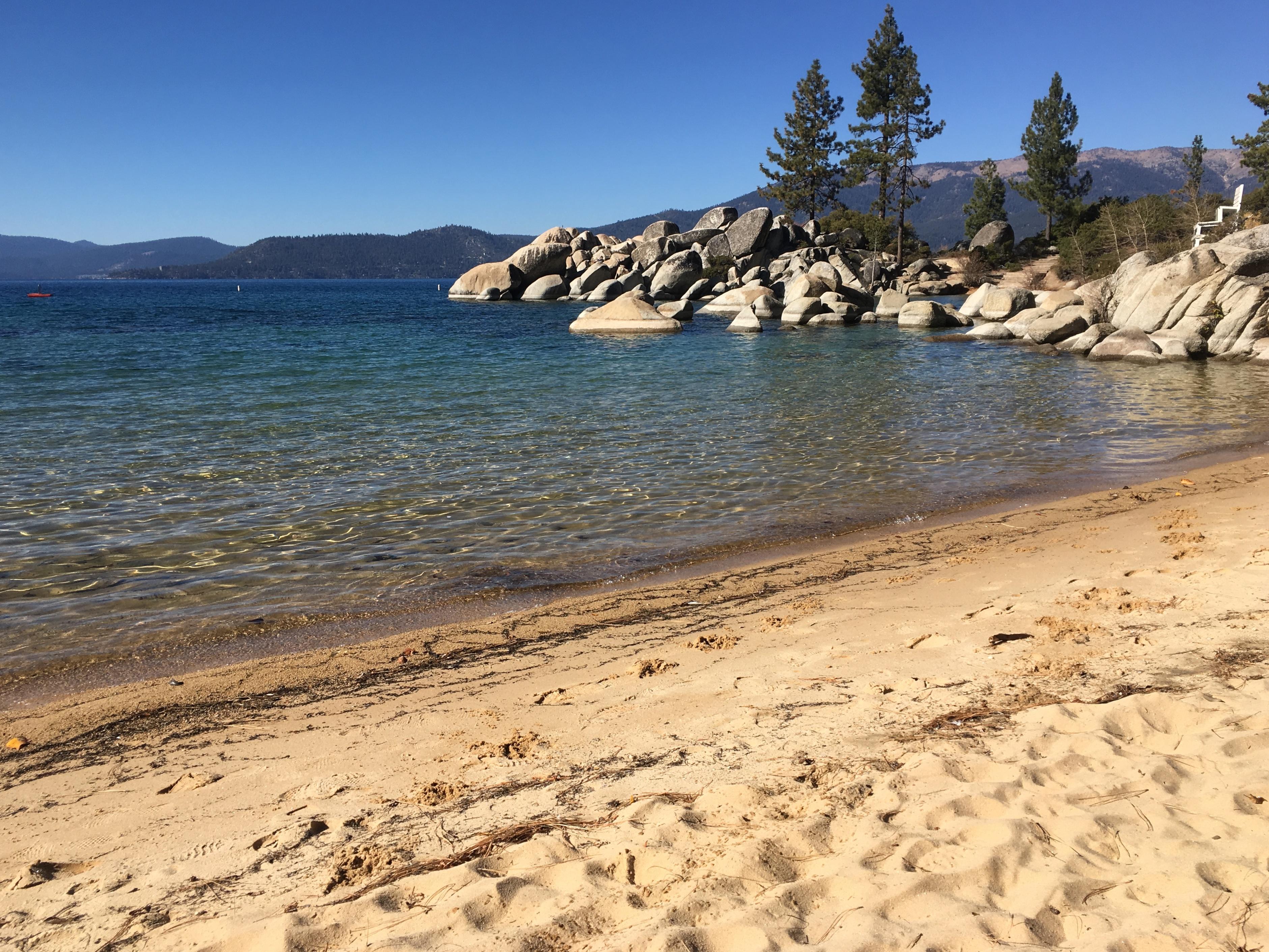 Lake Tahoe, Sand Harbor Park, Bay, Beach, Landscape, Mountain, HQ Photo