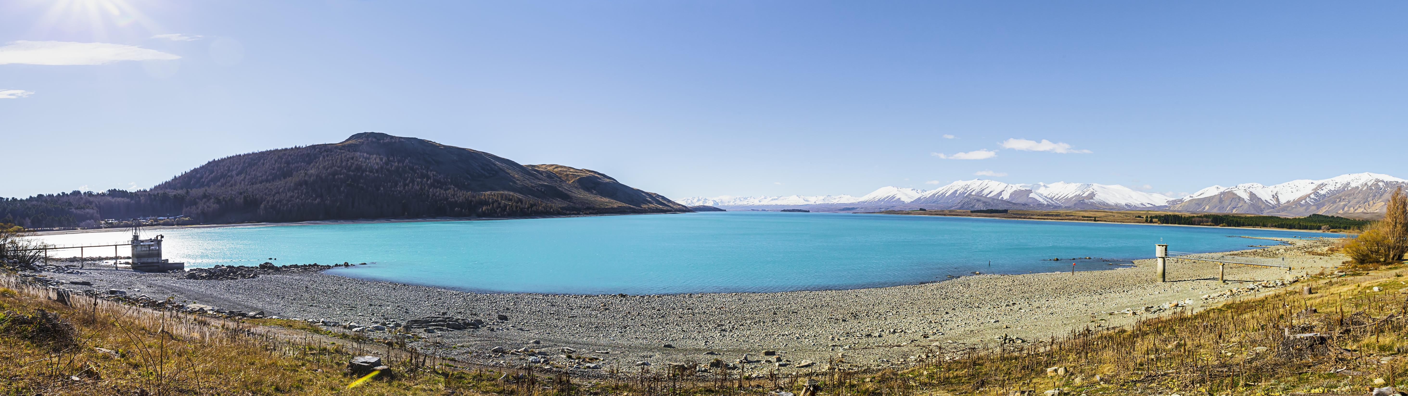 Lake tekapo on a fine spring day photo