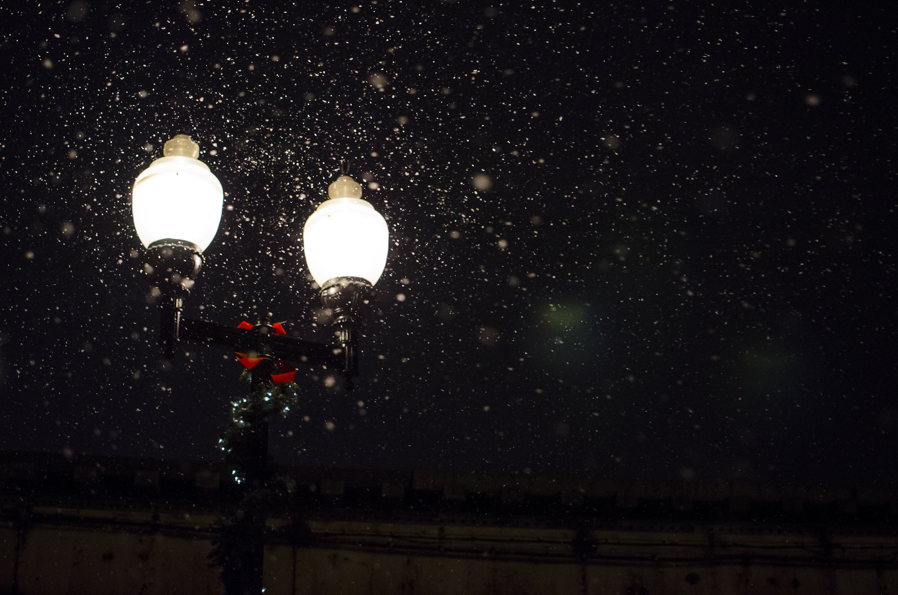 Lamp, City, Fall, Ice, Light, HQ Photo