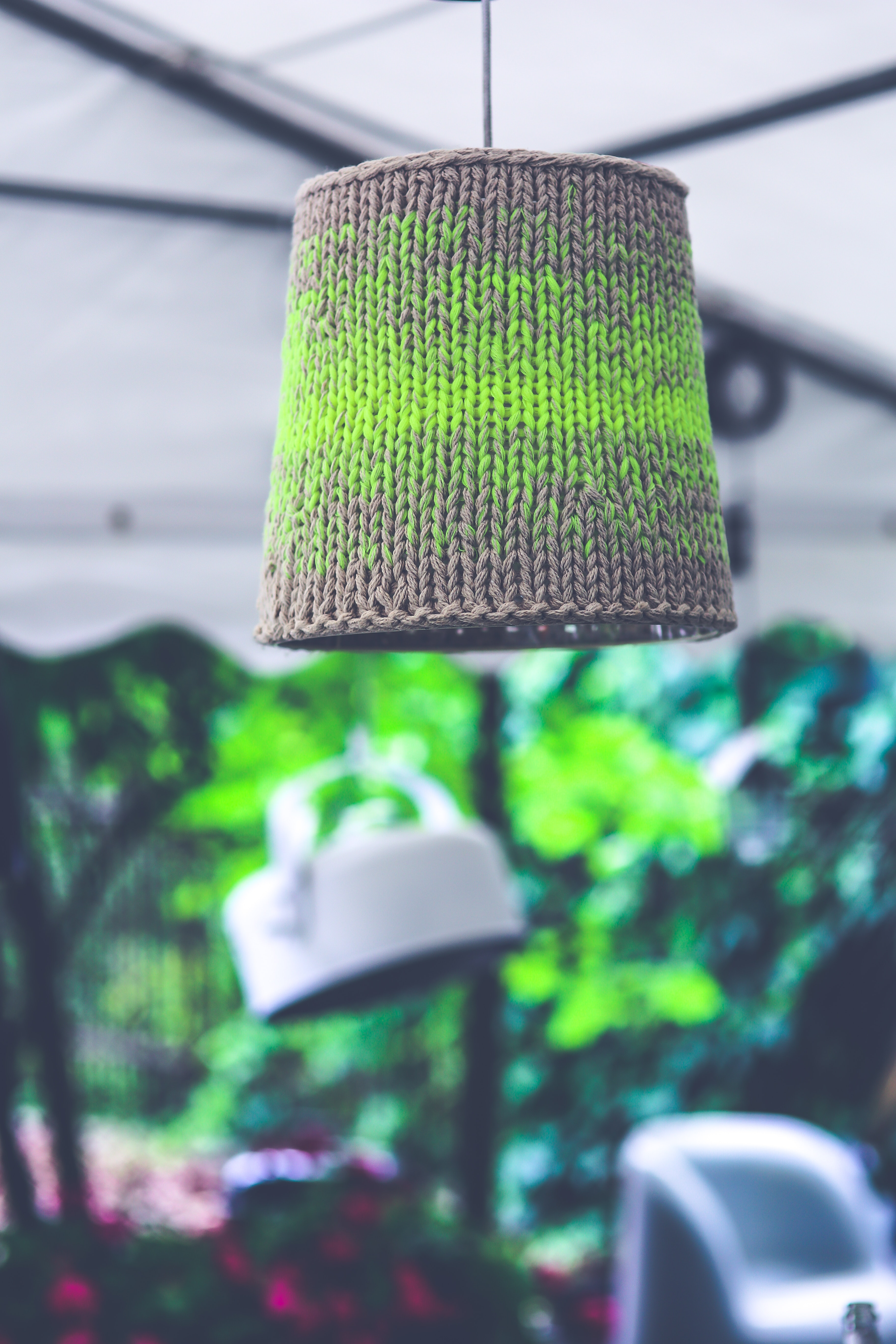 Lamp with wool photo
