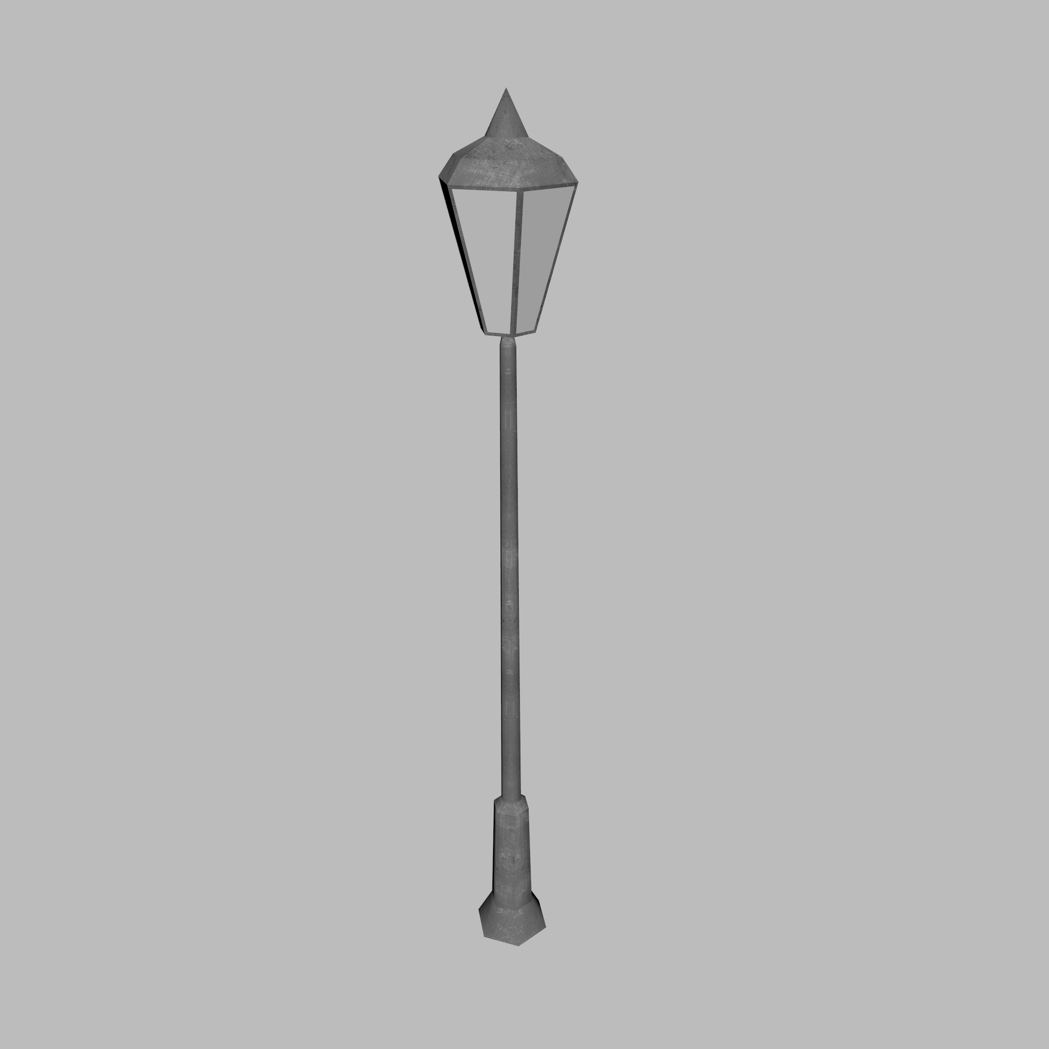 Low-Poly Lamppost 3D Model – Buy Low-Poly Lamppost 3D Model ...