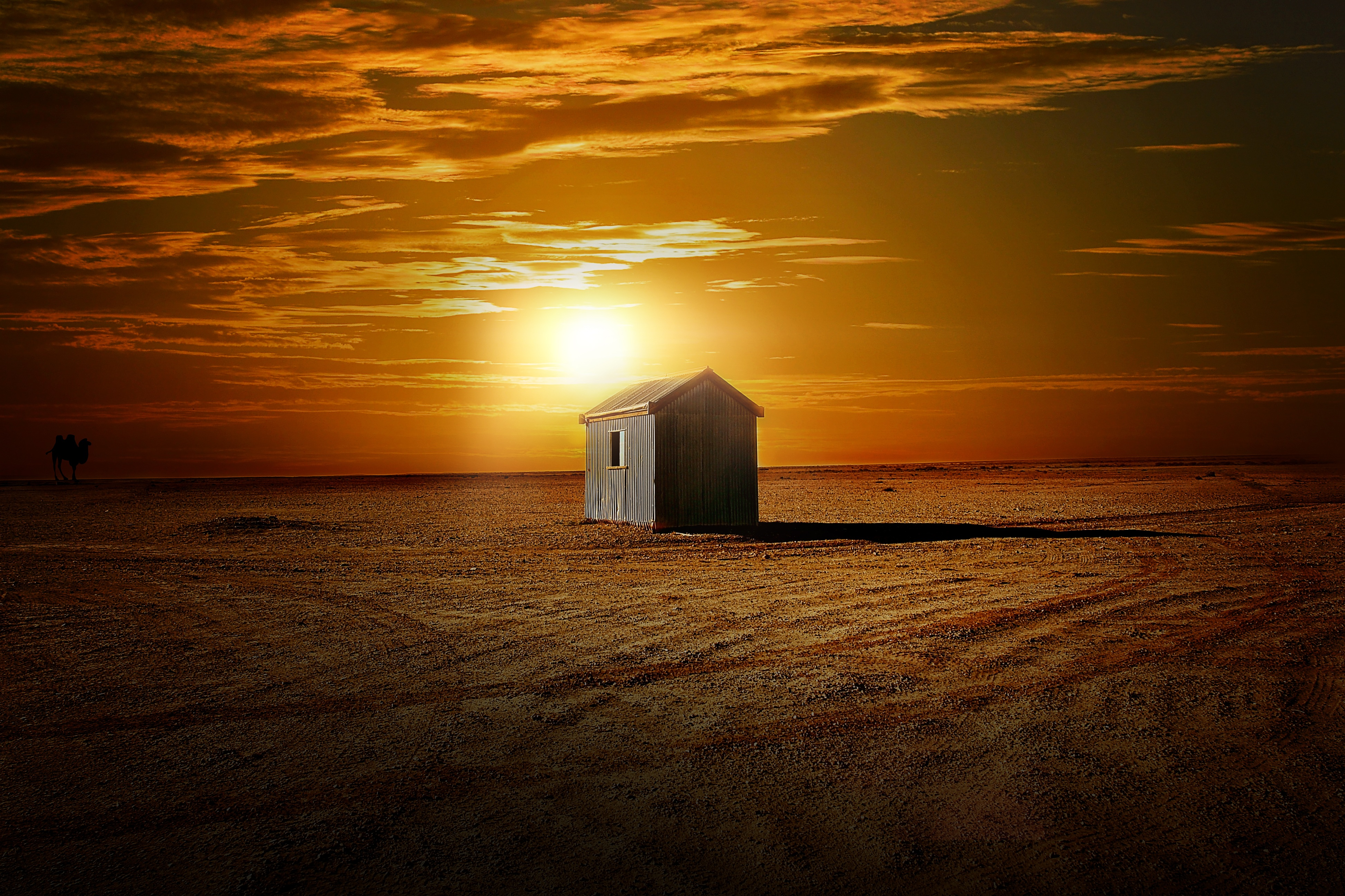 Landscape, Desert, Hot, Hut, Sand, HQ Photo