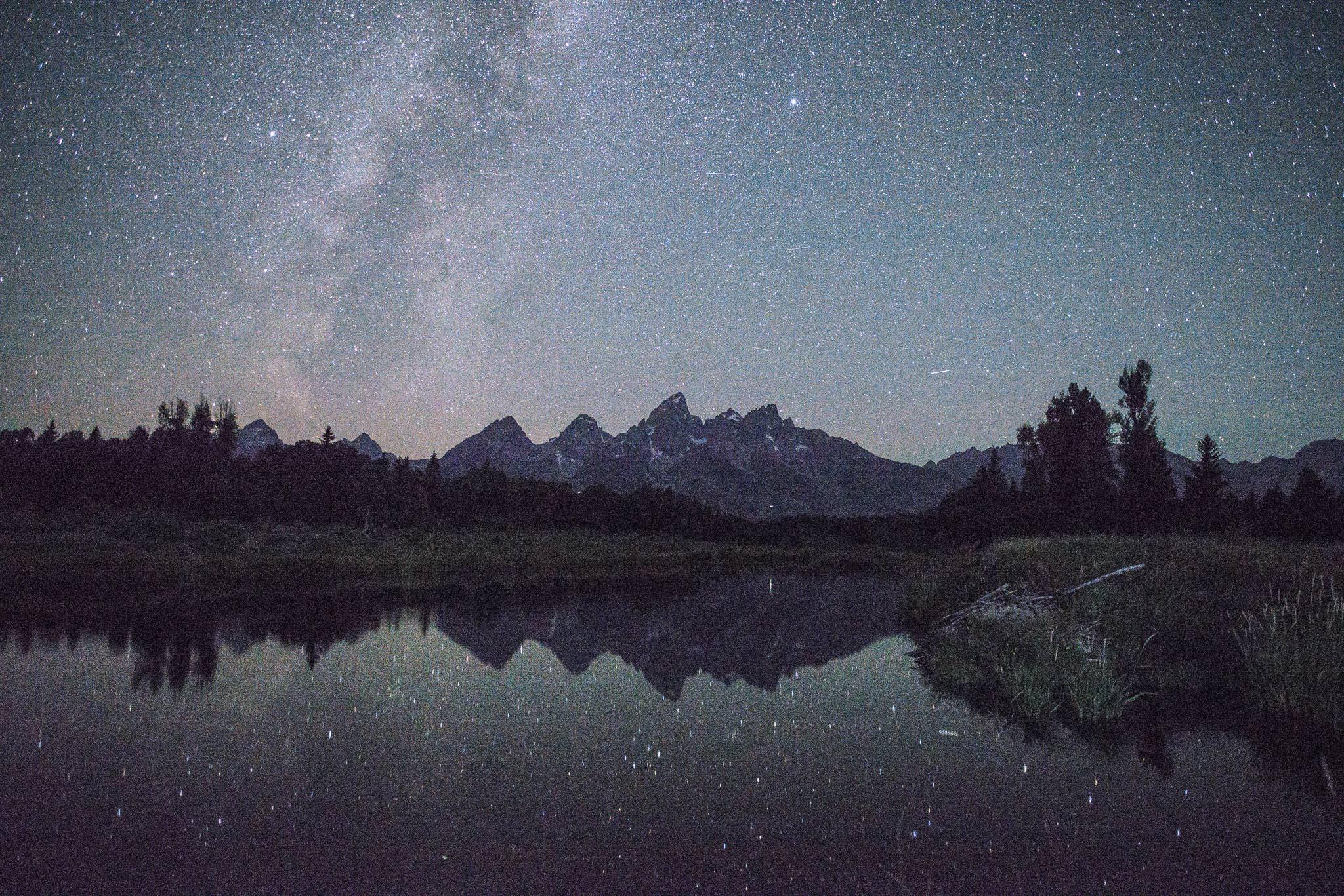 Night landscape photo