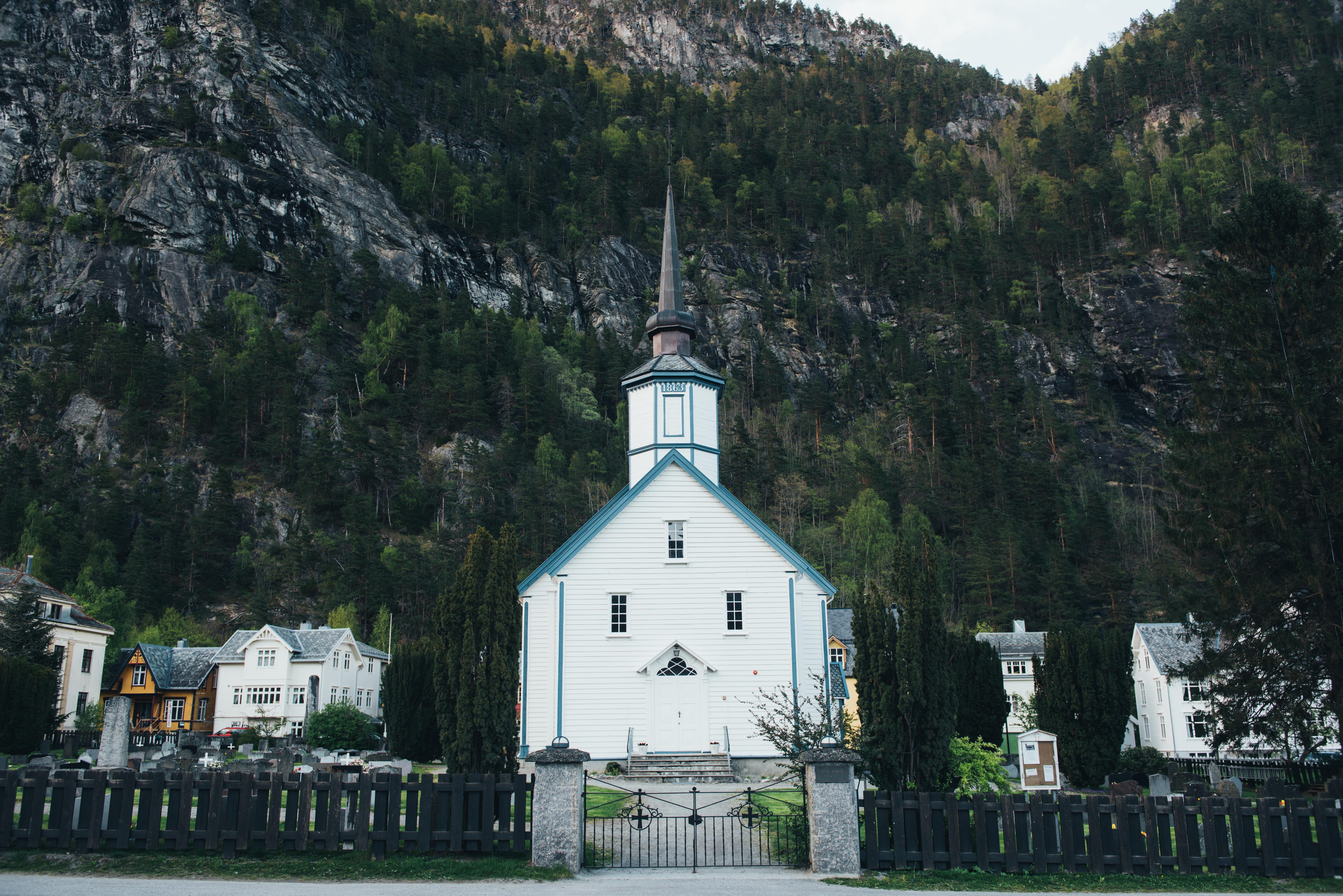 Landscape, Building, Church, Mountain, Peace, HQ Photo