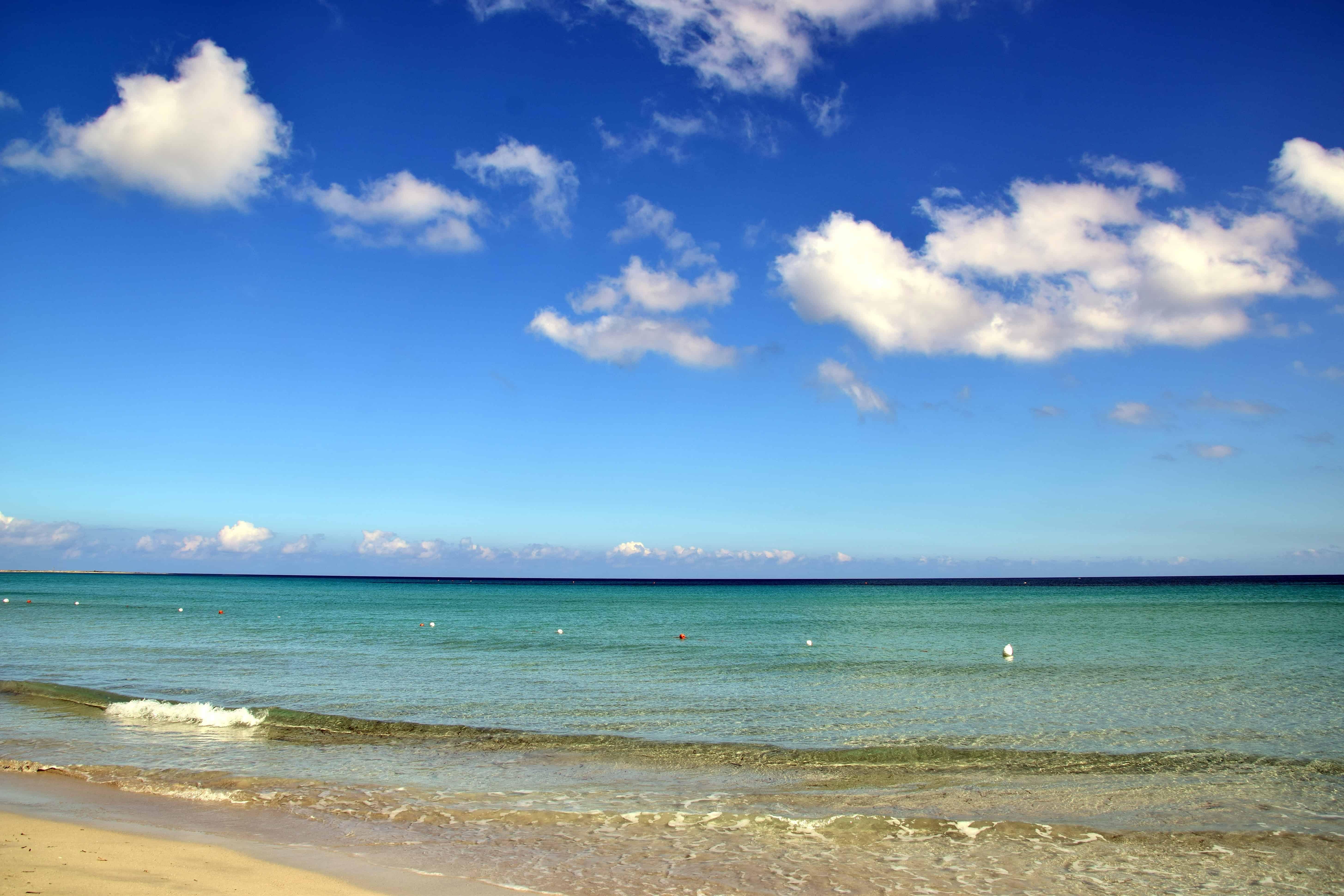 Free picture: summer, horizon, water, sand, blue skyn, beach, sea ...