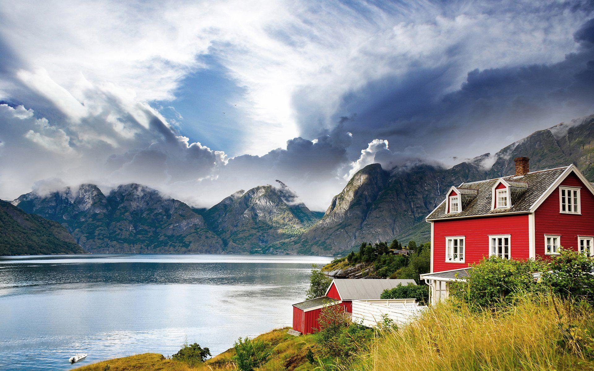 norway-norway-fjord-lake-mountain-house-landscape.jpg (1920×1200 ...