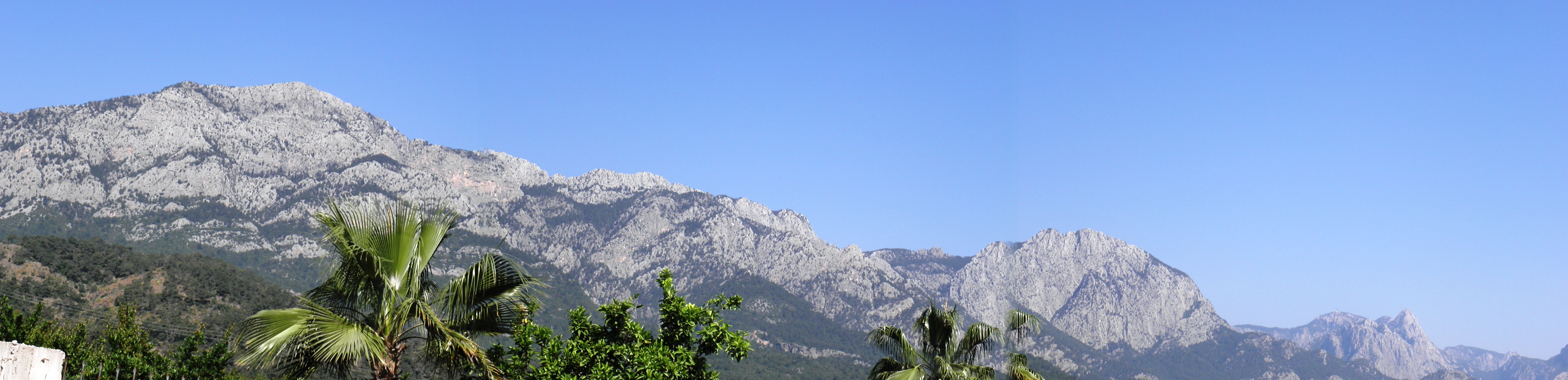 Landscape of the taurus mountains photo