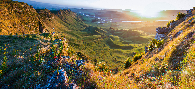 Landscape of Verdant Valley, Green, Hills, Land, Landscape, HQ Photo