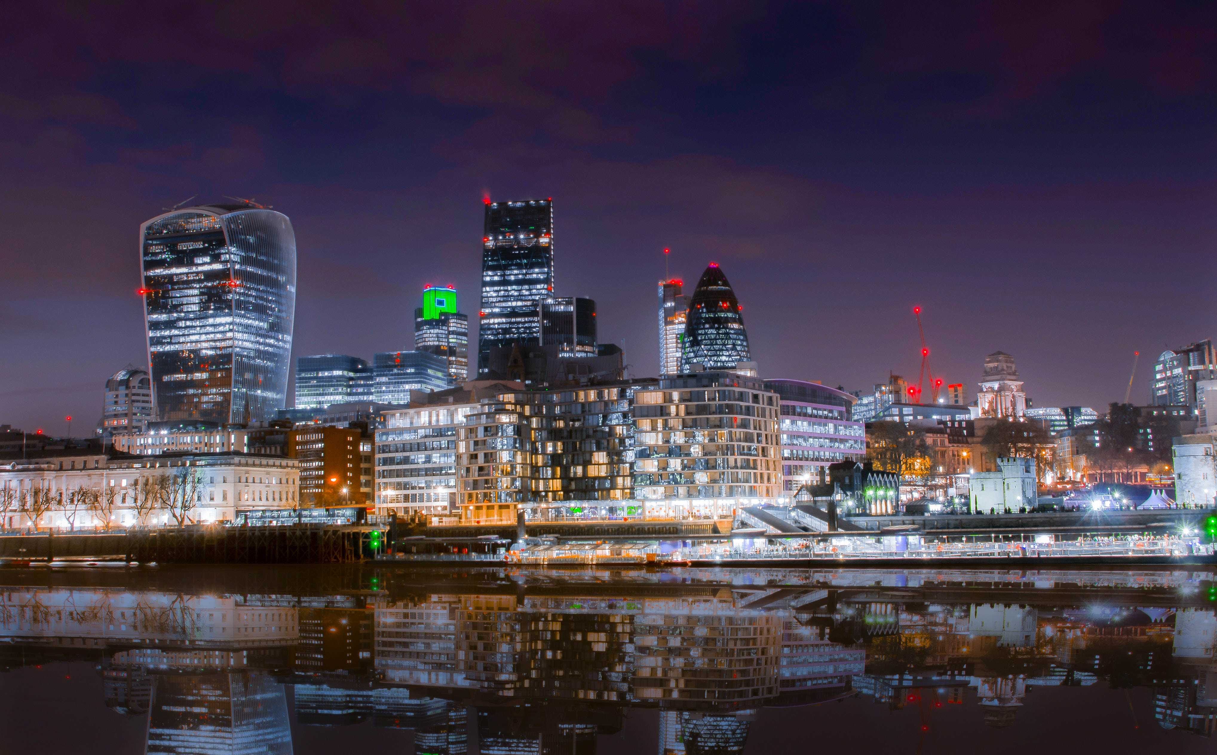Landscape photography of city structures during night time