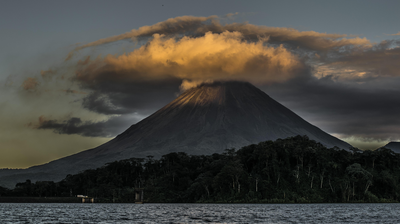 Landscape photography of volcano