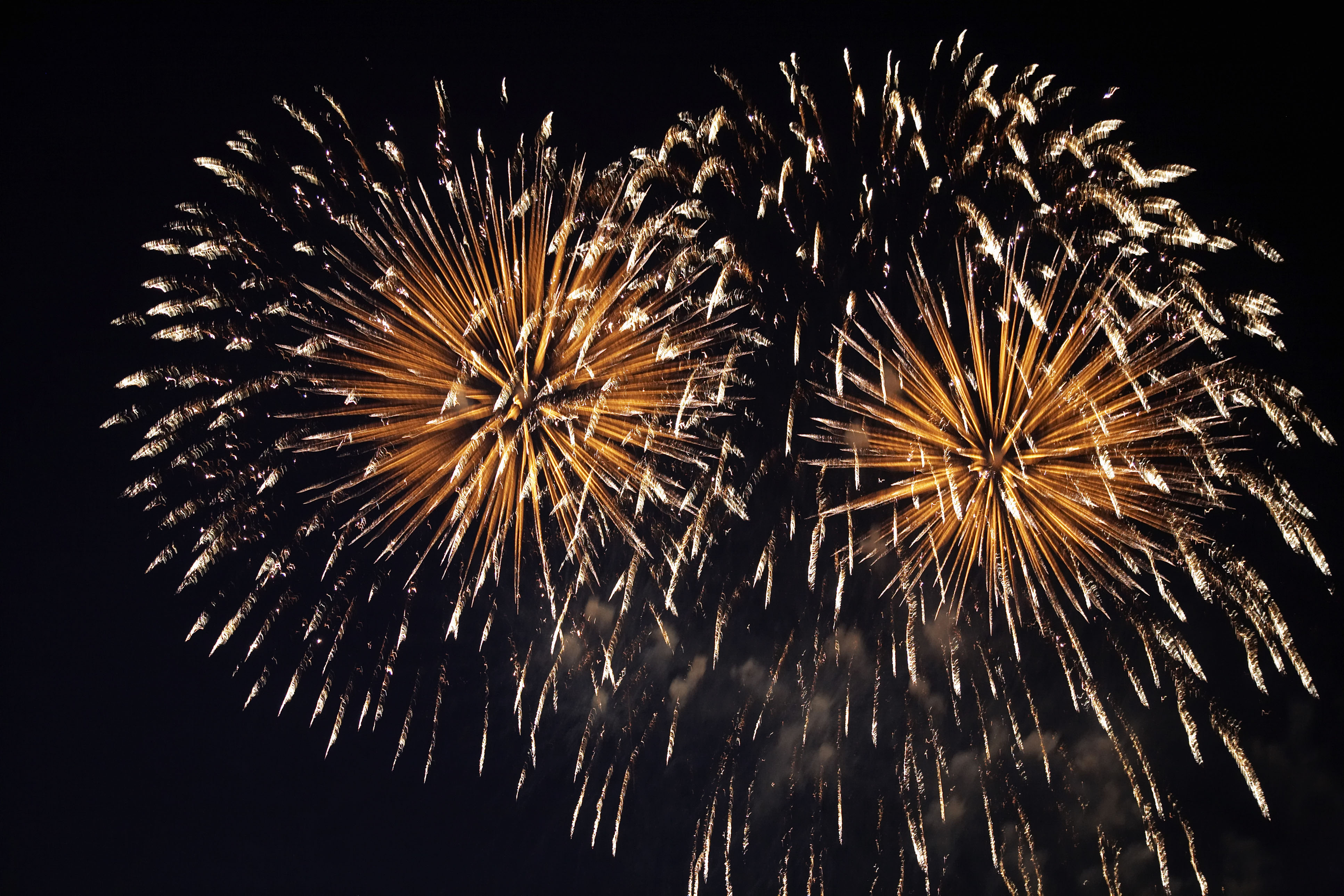 Large colorful fireworks photo