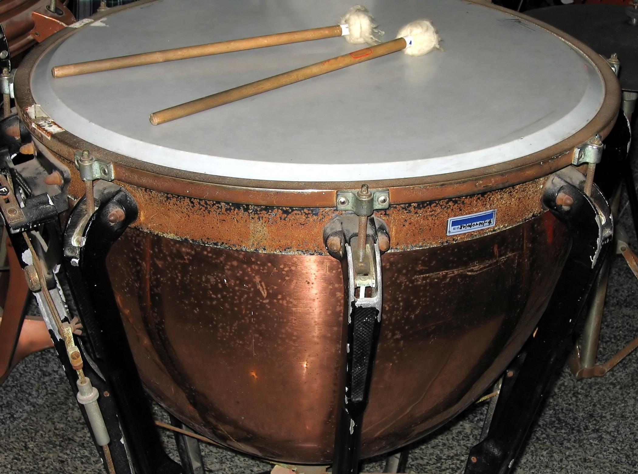 Large Copper Kettledrum, Orchestra, Stick, Skin, Shape, HQ Photo