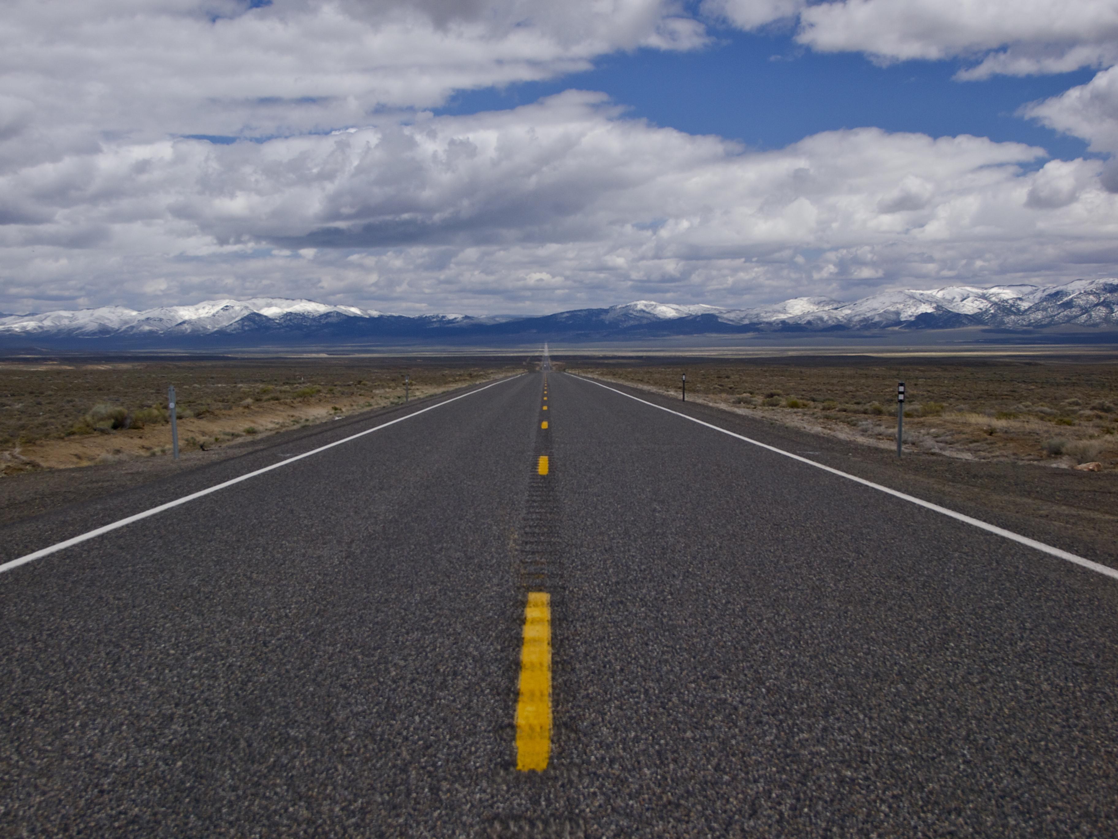 Large lone road photo
