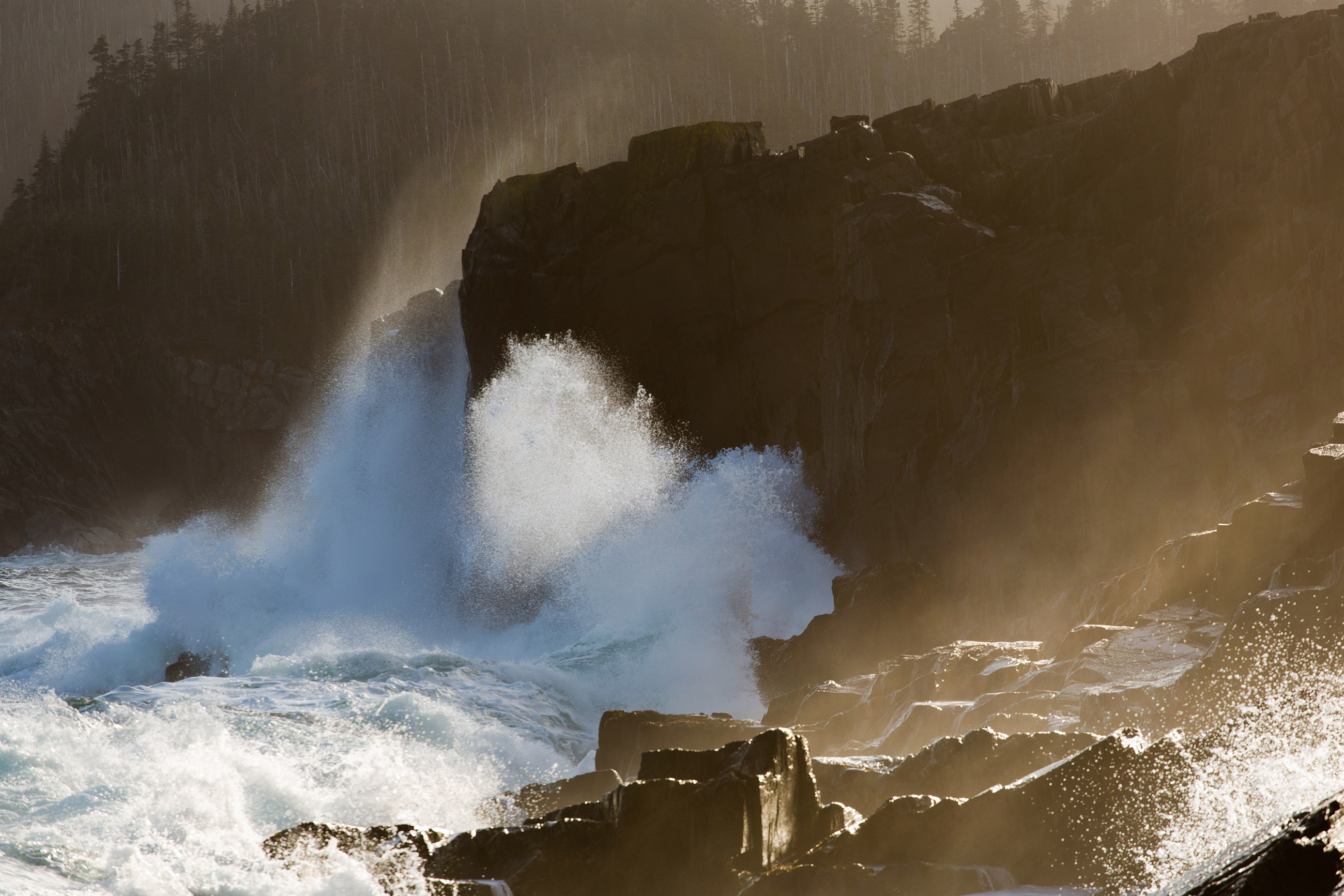 Large waves crashing on shoreline, Wild, Speed, Power, Powerful, HQ Photo