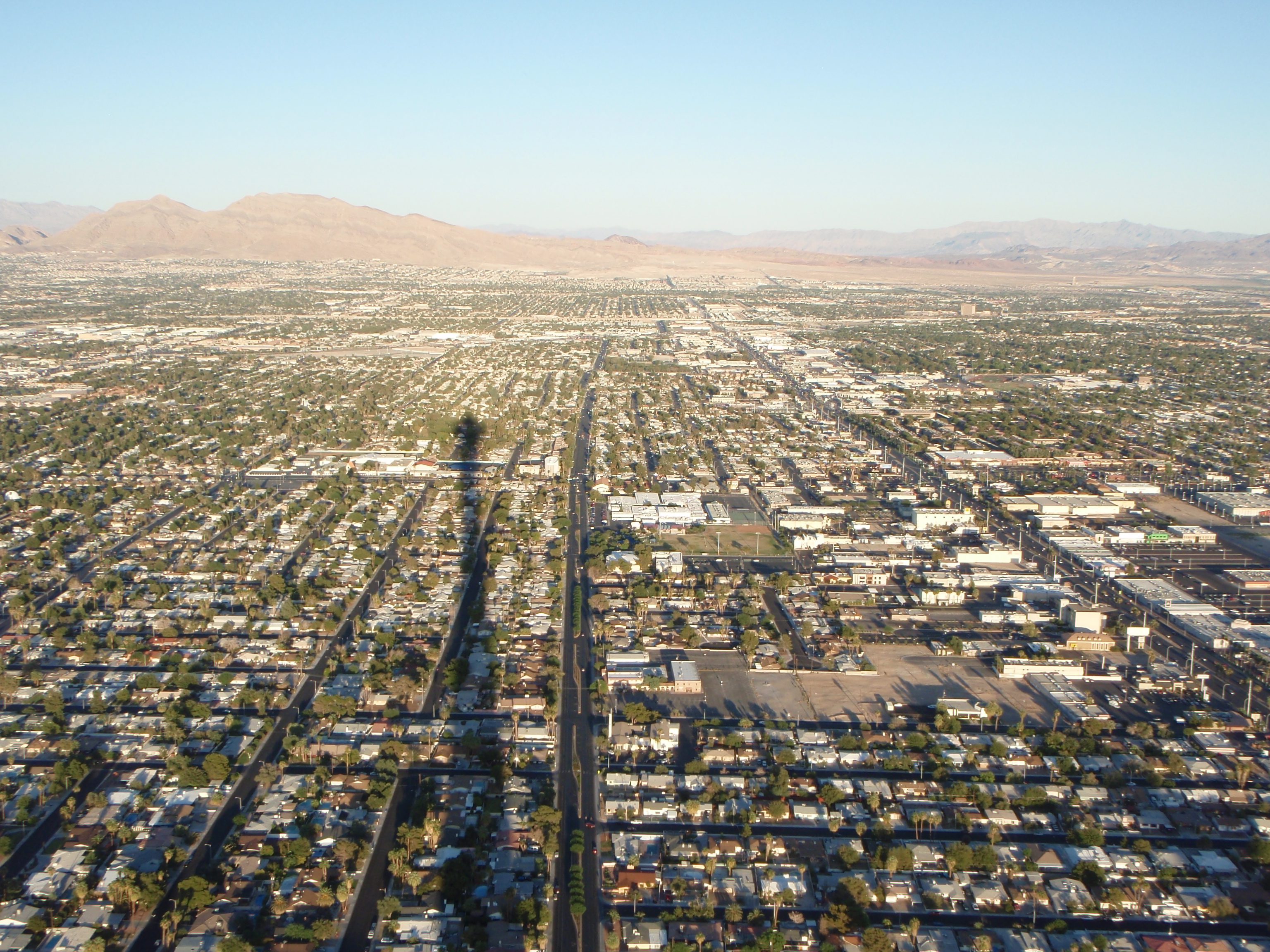 Las vegas from above photo