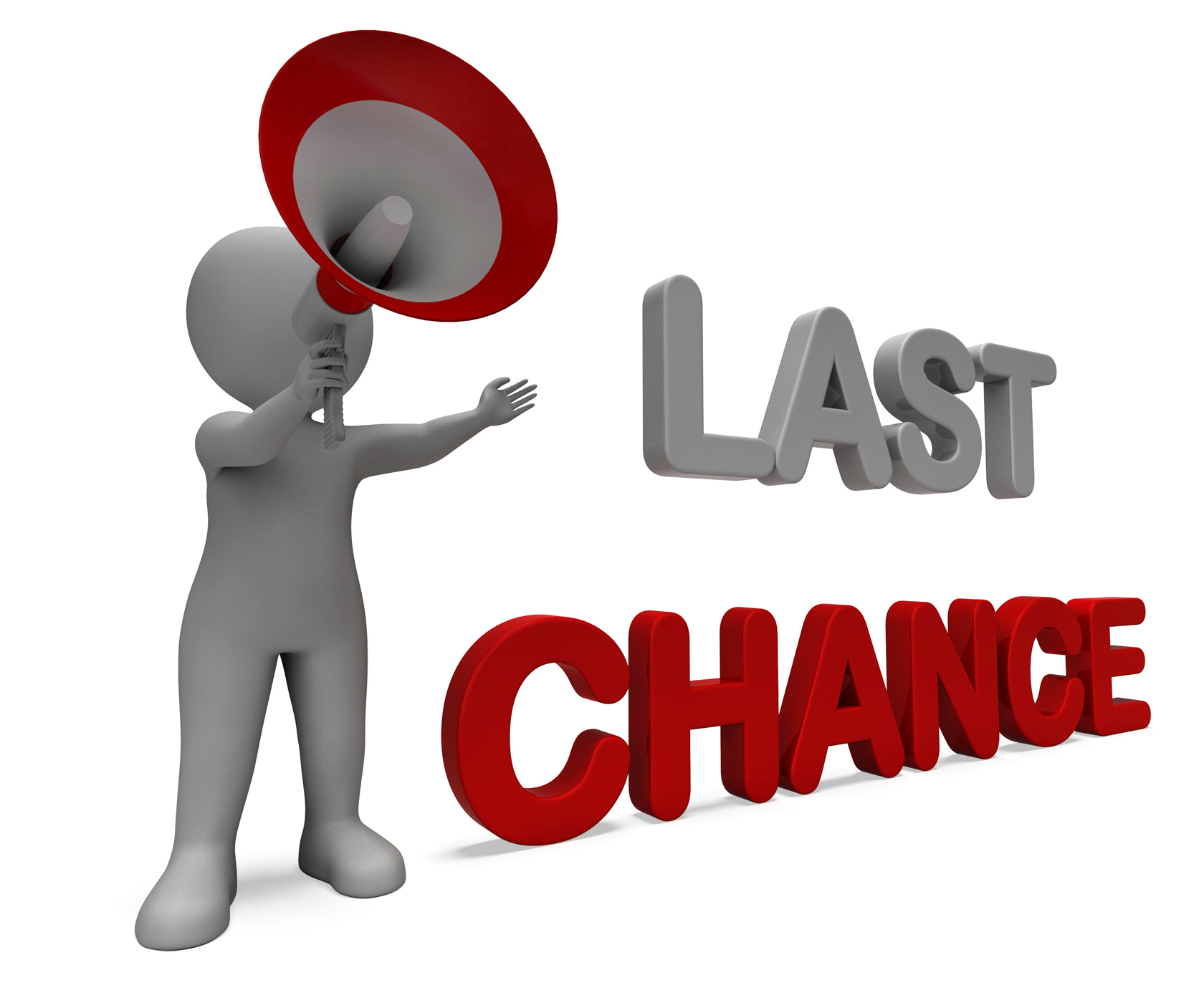 Last Chance Character Shows Warning Final Opportunity Or Act Now, Actnow, Chance, Deadline, Final, HQ Photo