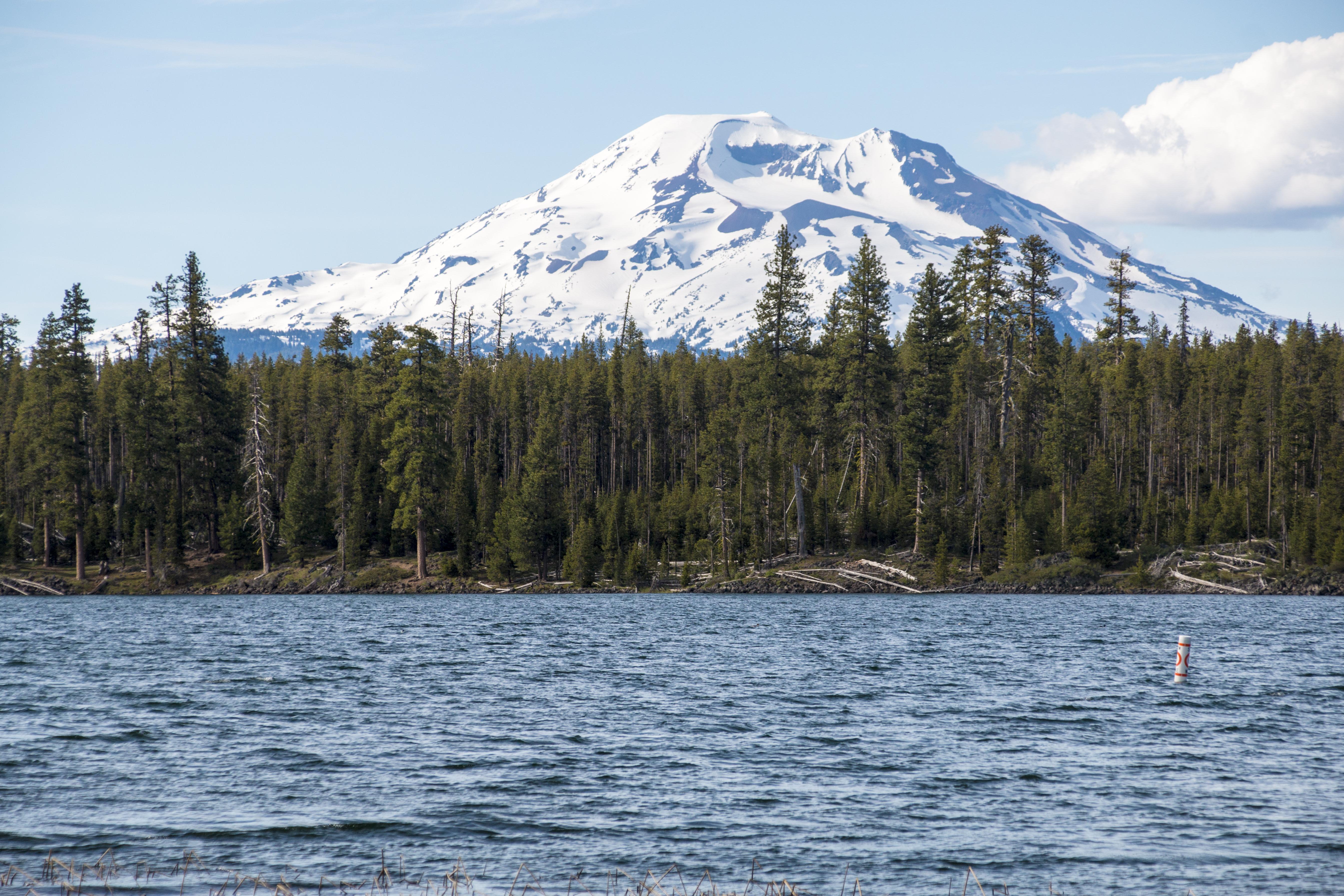 Lava lake, and mt. bachelor, oregon photo