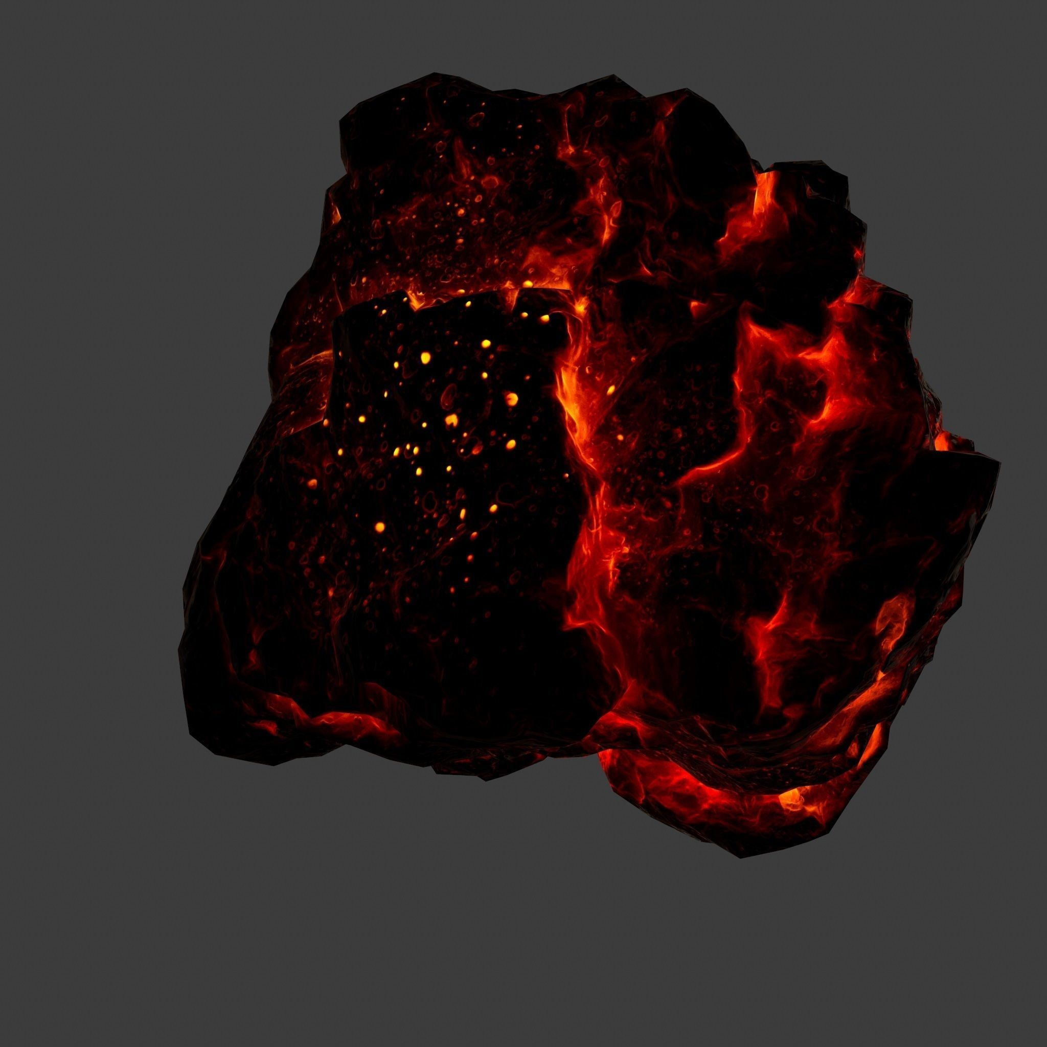 3D asset game-ready Lava Rock | CGTrader