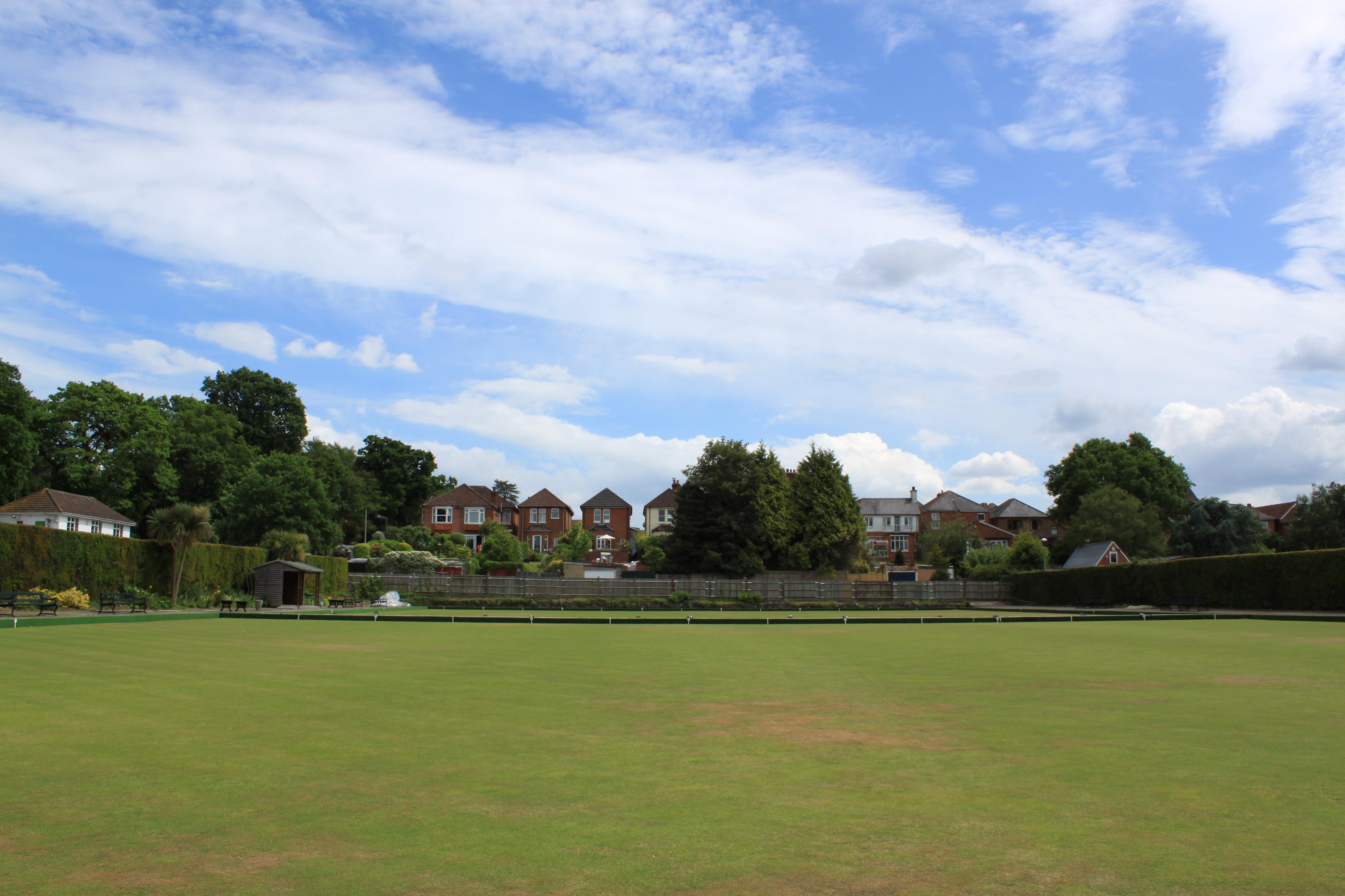 Lawn, Grass, Houses, Landscape, Sky, HQ Photo