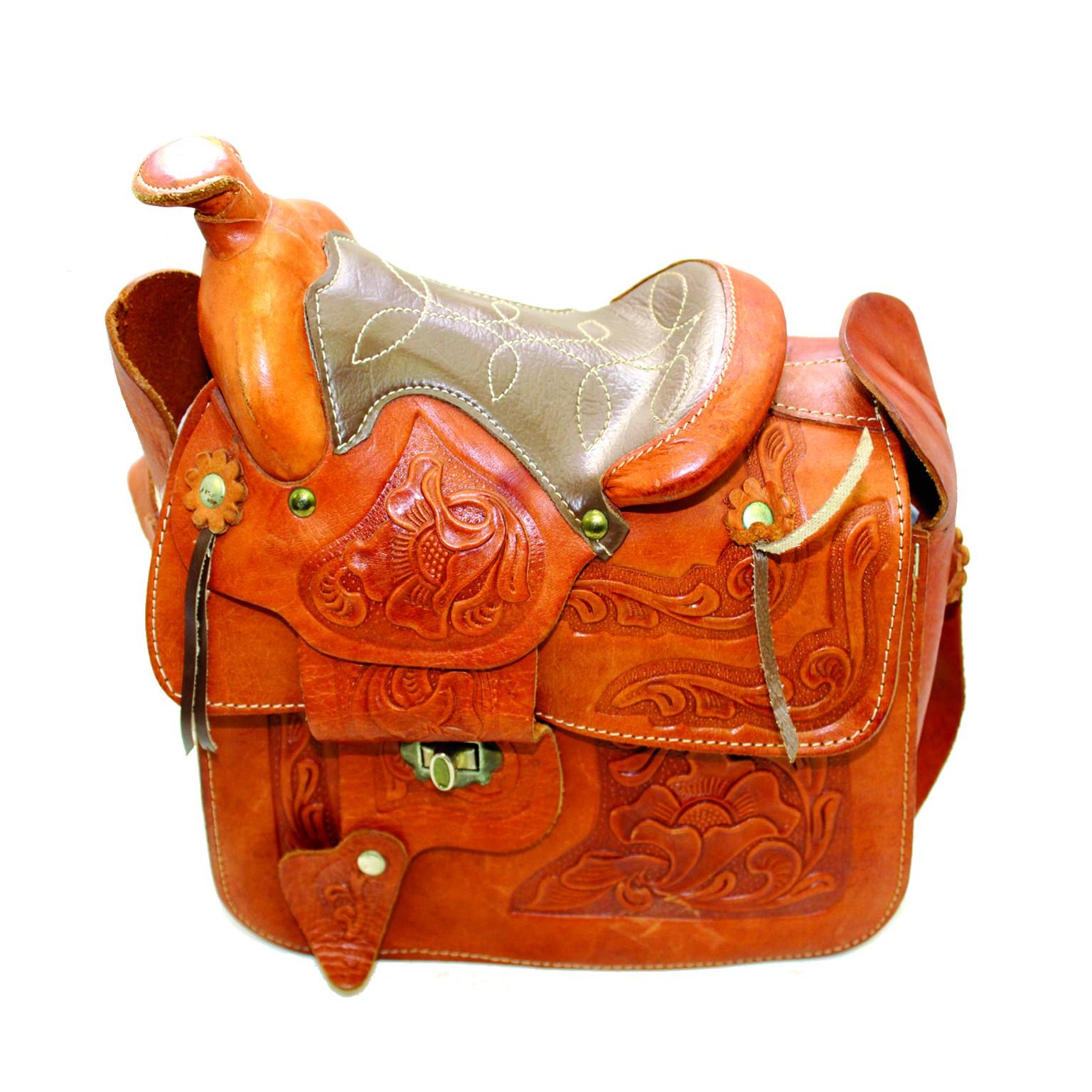 Leather saddle photo