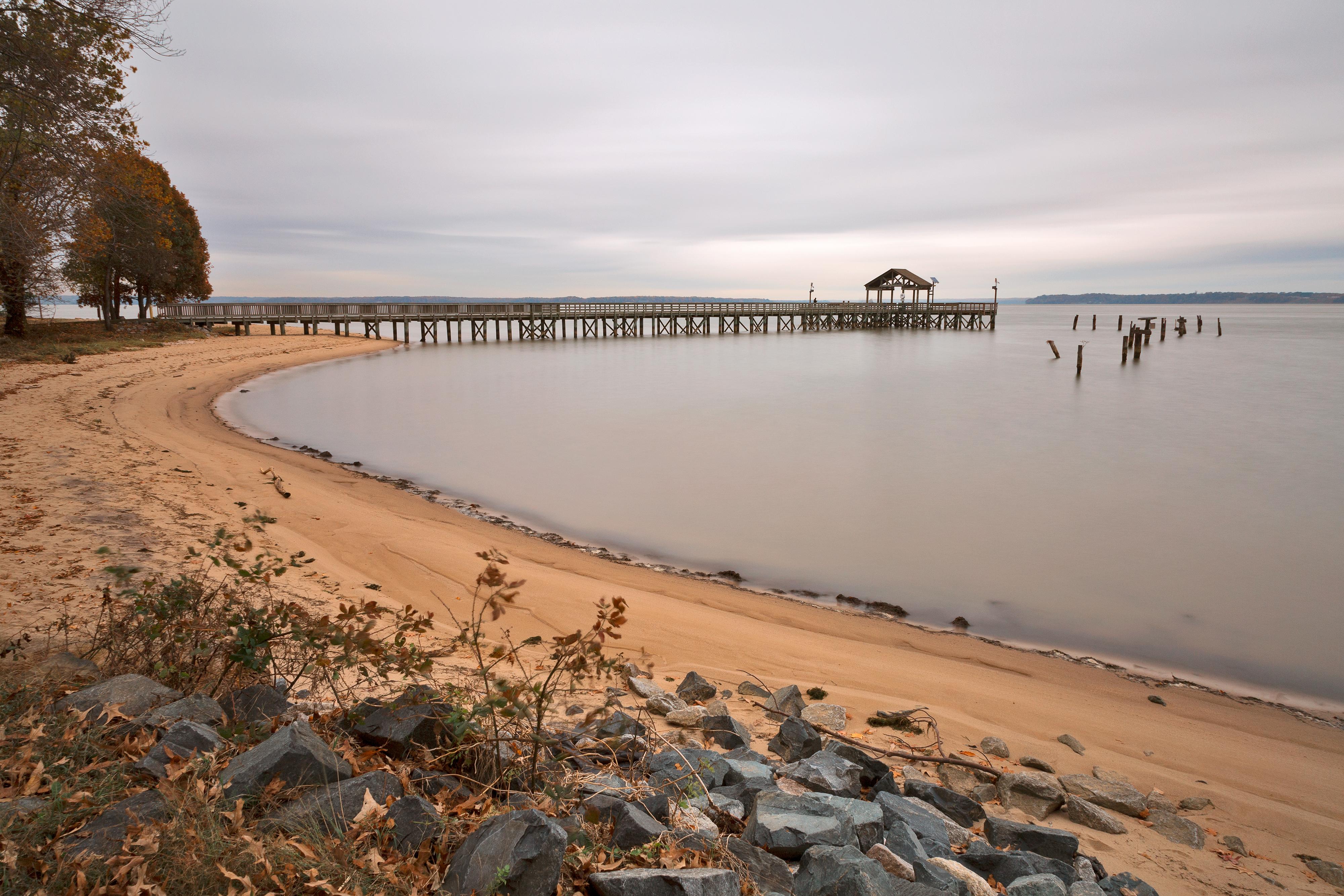 Leesylvania beach pier photo