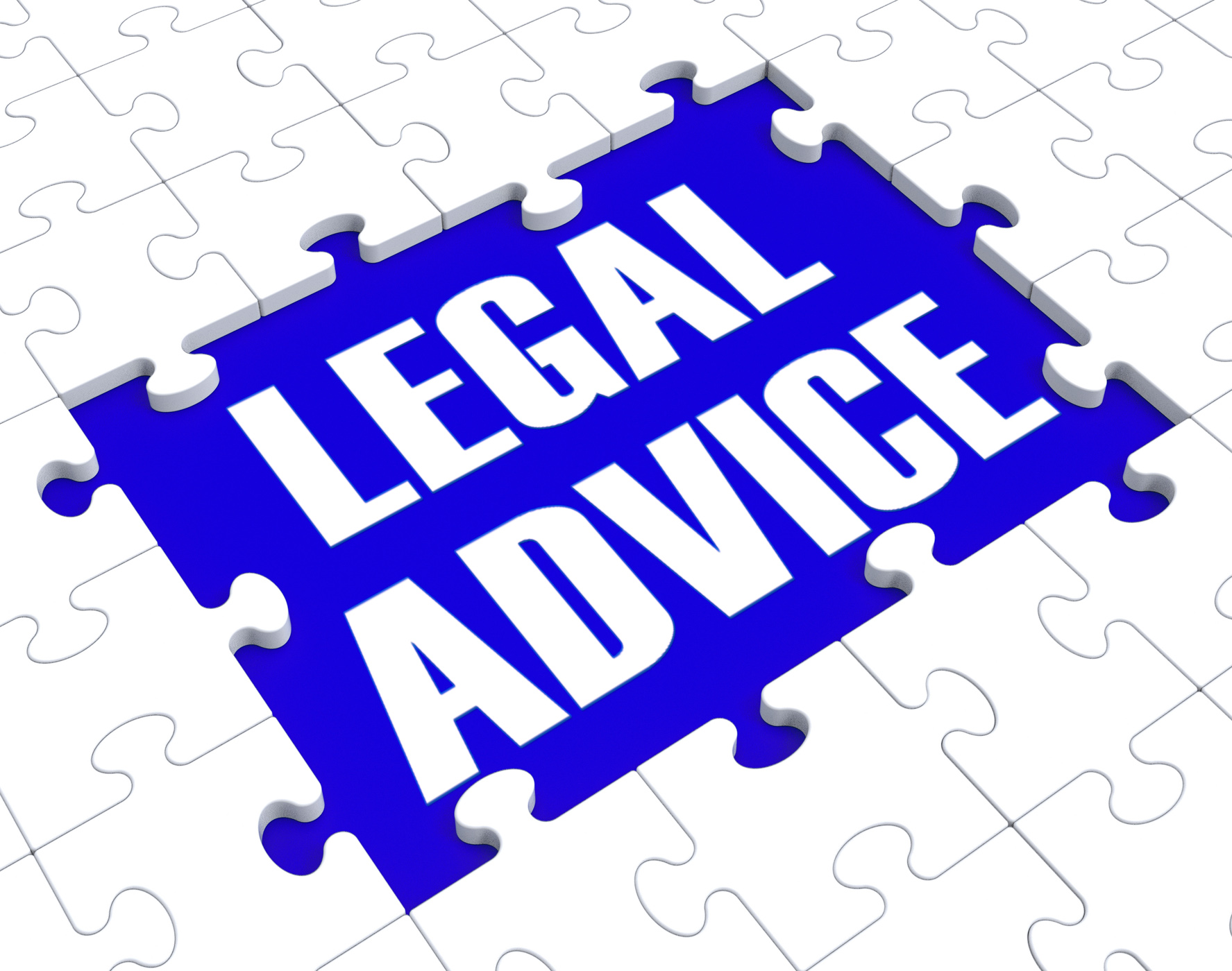 Legal advice puzzle showing attorney counseling photo